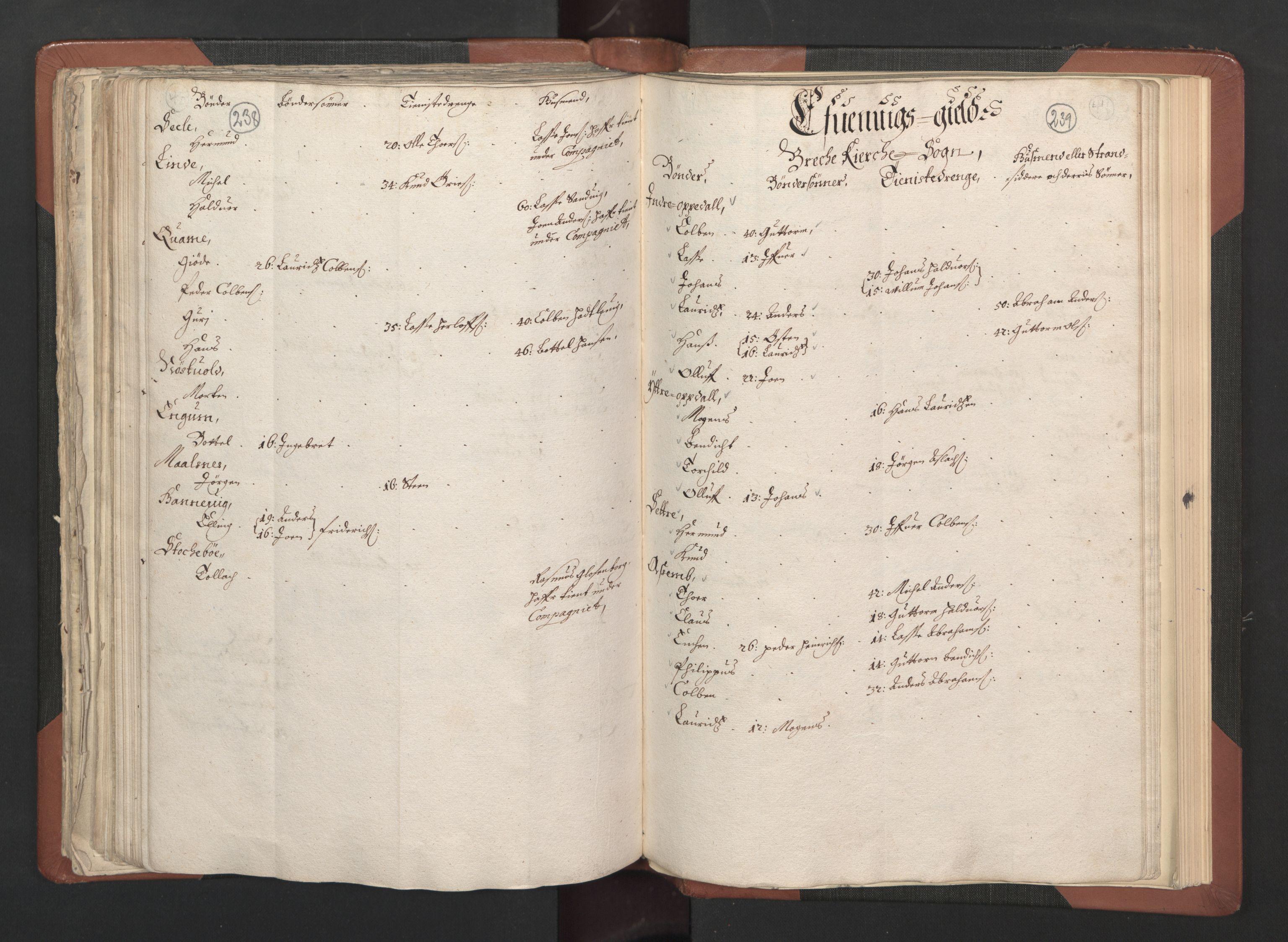 RA, Fogdenes og sorenskrivernes manntall 1664-1666, nr. 14: Hardanger len, Ytre Sogn fogderi og Indre Sogn fogderi, 1664-1665, s. 238-239
