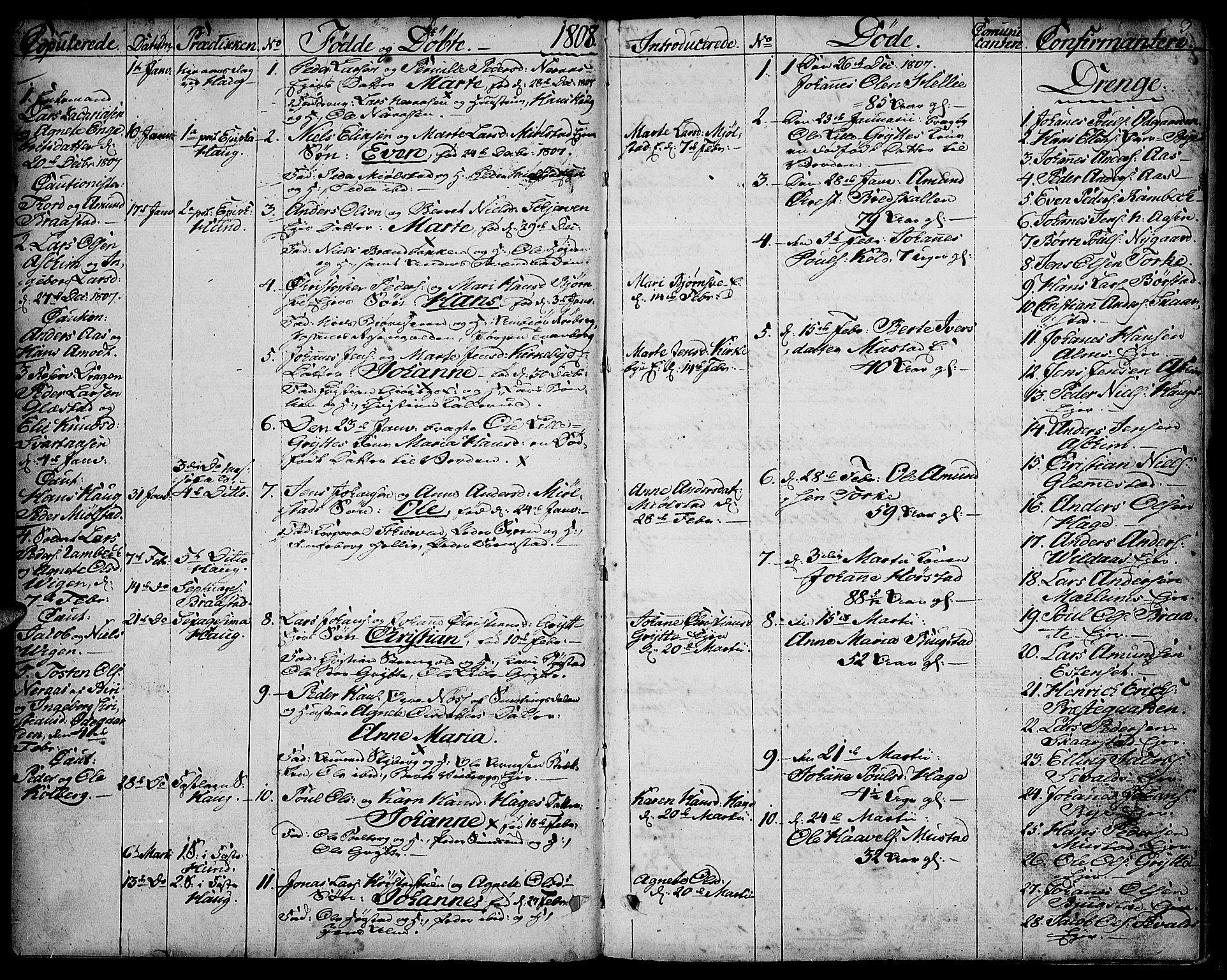 SAH, Vardal prestekontor, H/Ha/Haa/L0003: Ministerialbok nr. 3, 1808-1814, s. 2-3