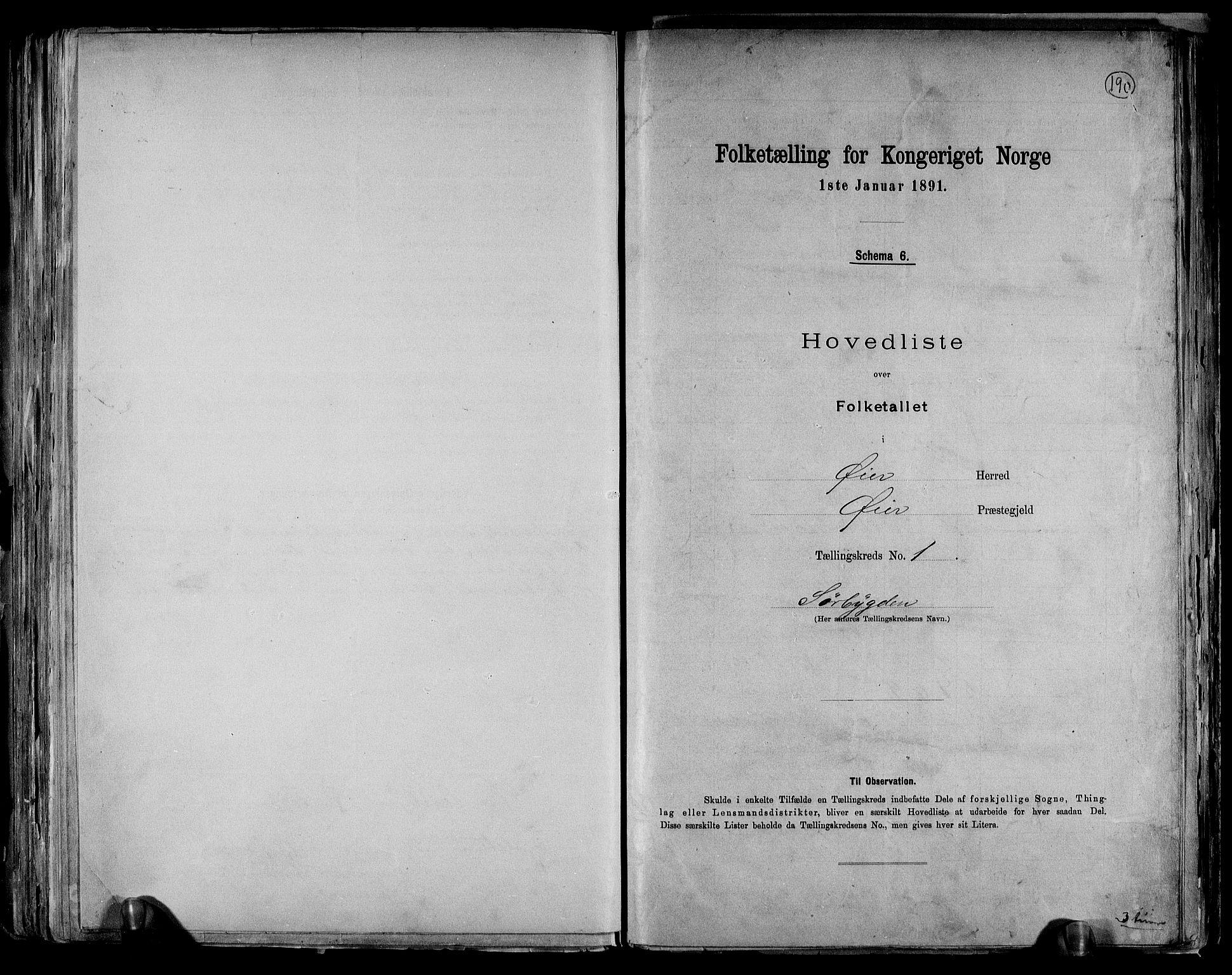 RA, Folketelling 1891 for 0521 Øyer herred, 1891, s. 4