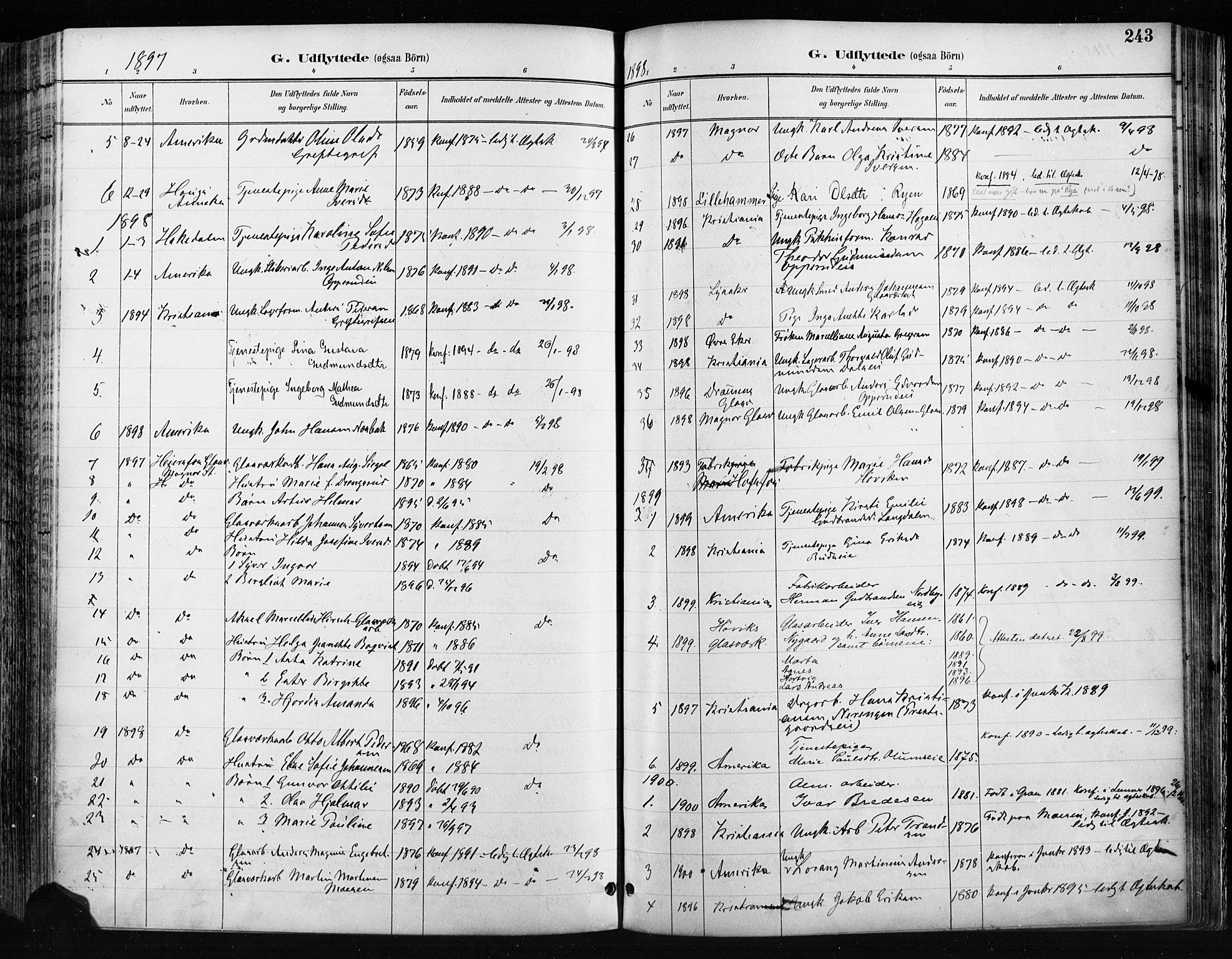 SAH, Jevnaker prestekontor, Ministerialbok nr. 9, 1891-1901, s. 243