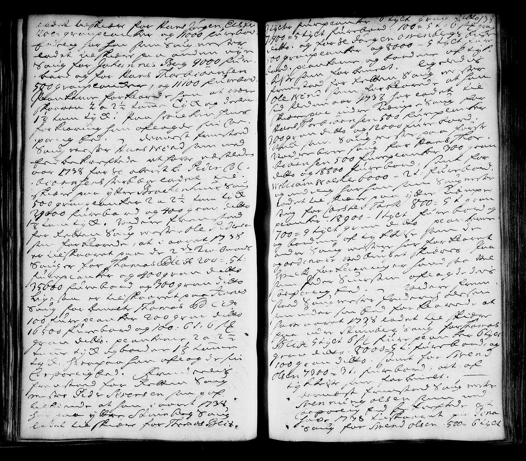 SAO, Halden byfogd, F/Fb/L0008: Tingbok, 1736-1745, s. 137b-138a