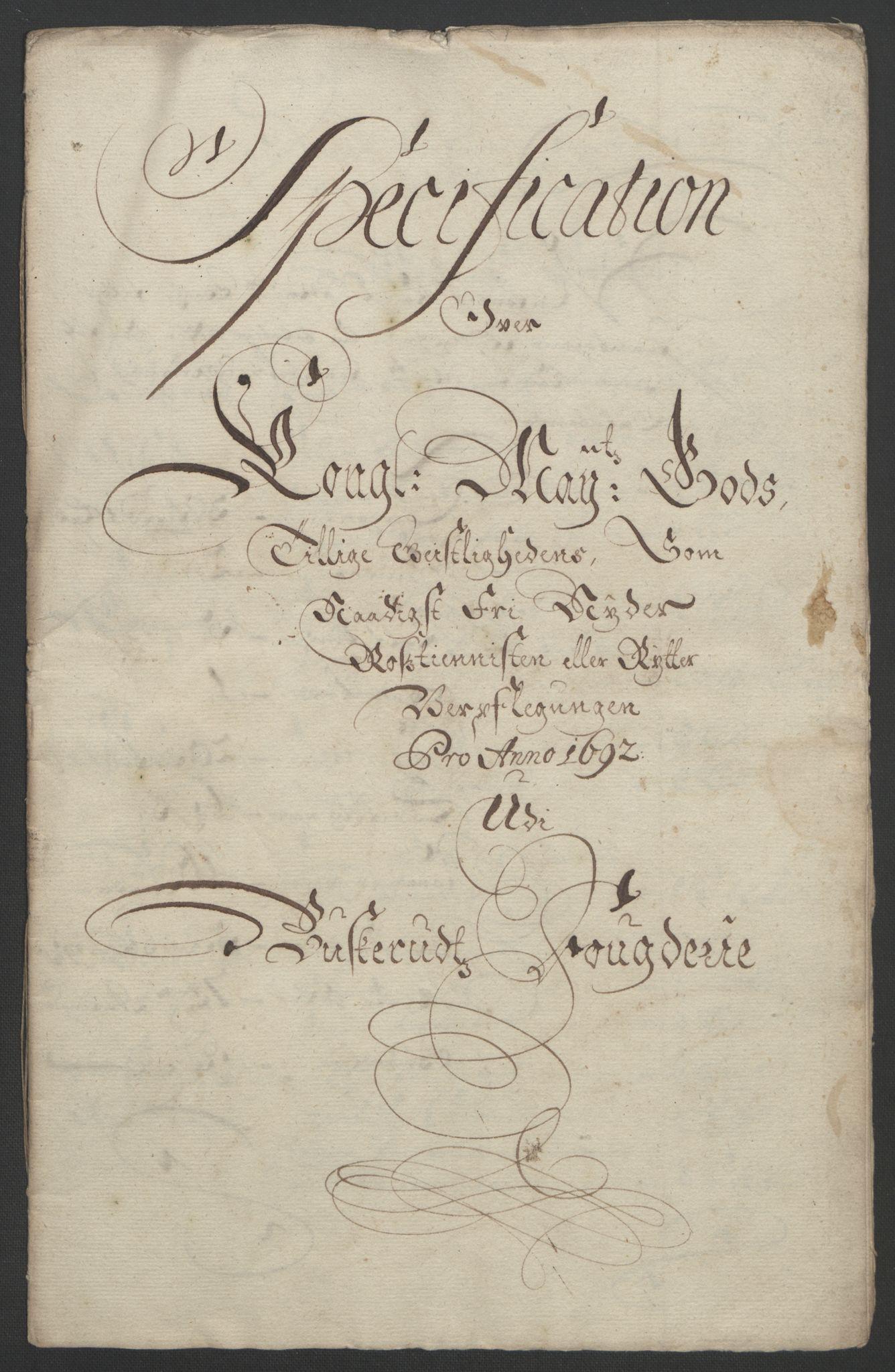 RA, Rentekammeret inntil 1814, Reviderte regnskaper, Fogderegnskap, R25/L1681: Fogderegnskap Buskerud, 1691-1692, s. 507