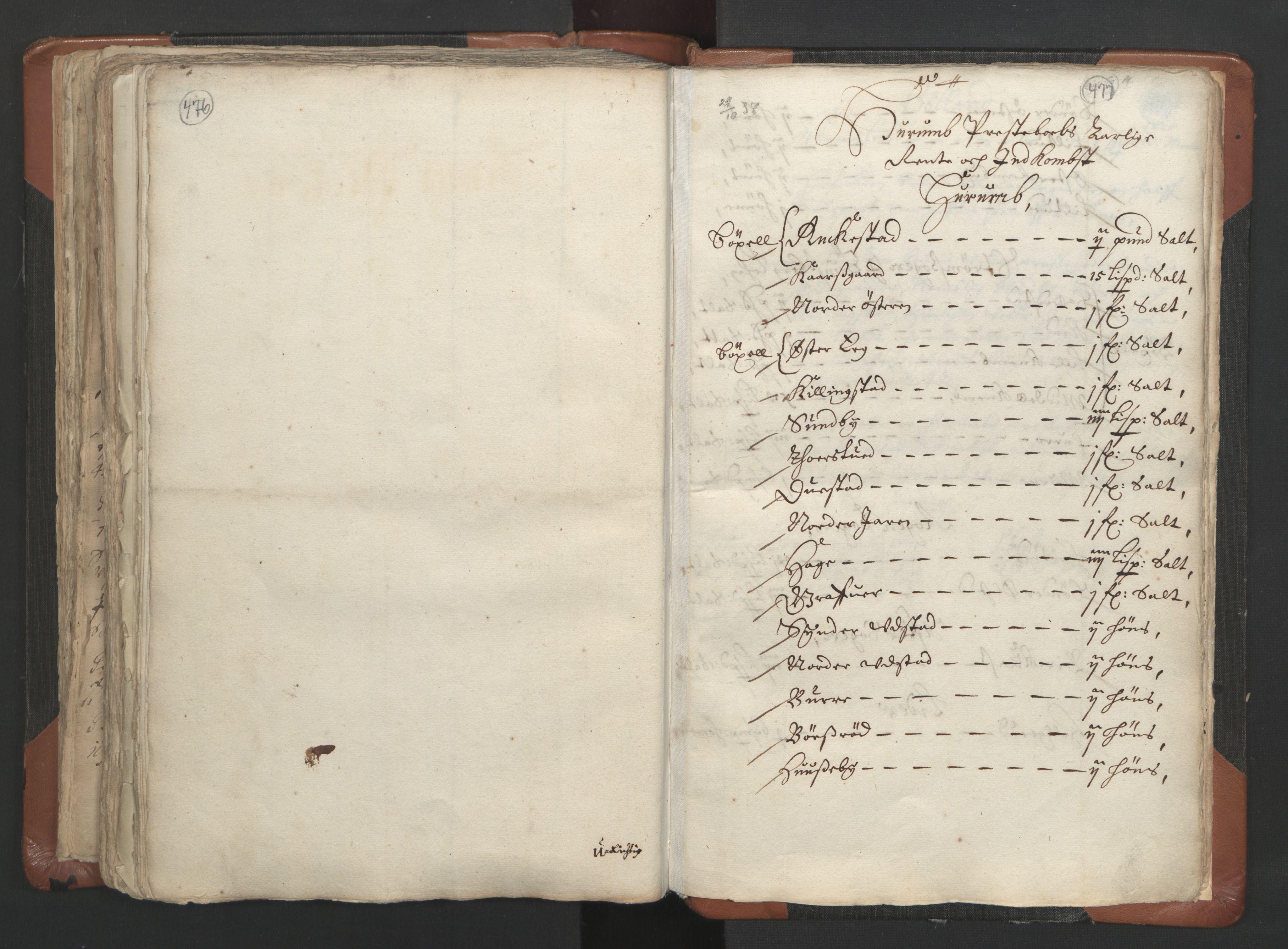 RA, Sogneprestenes manntall 1664-1666, nr. 9: Bragernes prosti, 1664-1666, s. 476-477