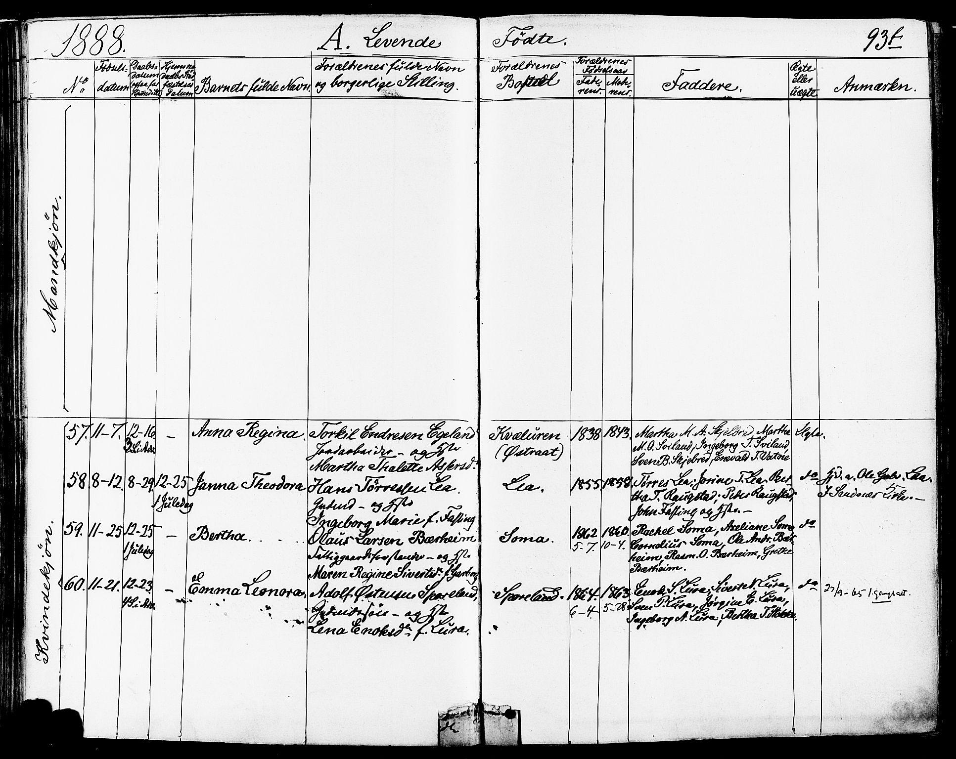 SAST, Høyland sokneprestkontor, 30BA/L0011: Ministerialbok nr. A 10, 1878-1888, s. 93
