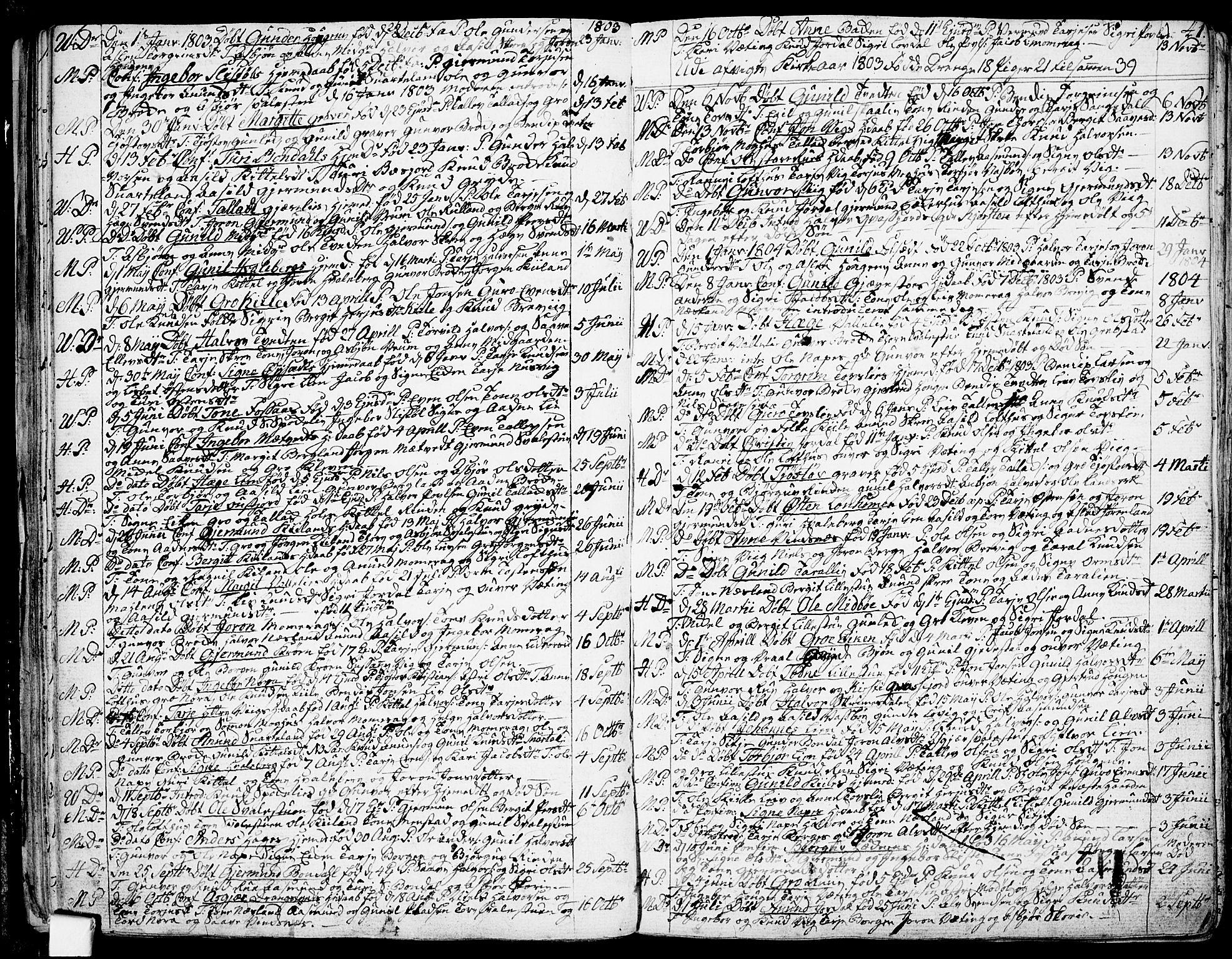 SAKO, Fyresdal kirkebøker, F/Fa/L0002: Ministerialbok nr. I 2, 1769-1814, s. 41
