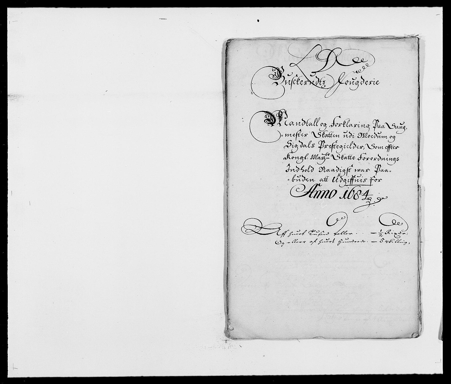 RA, Rentekammeret inntil 1814, Reviderte regnskaper, Fogderegnskap, R25/L1677: Fogderegnskap Buskerud, 1683-1684, s. 295