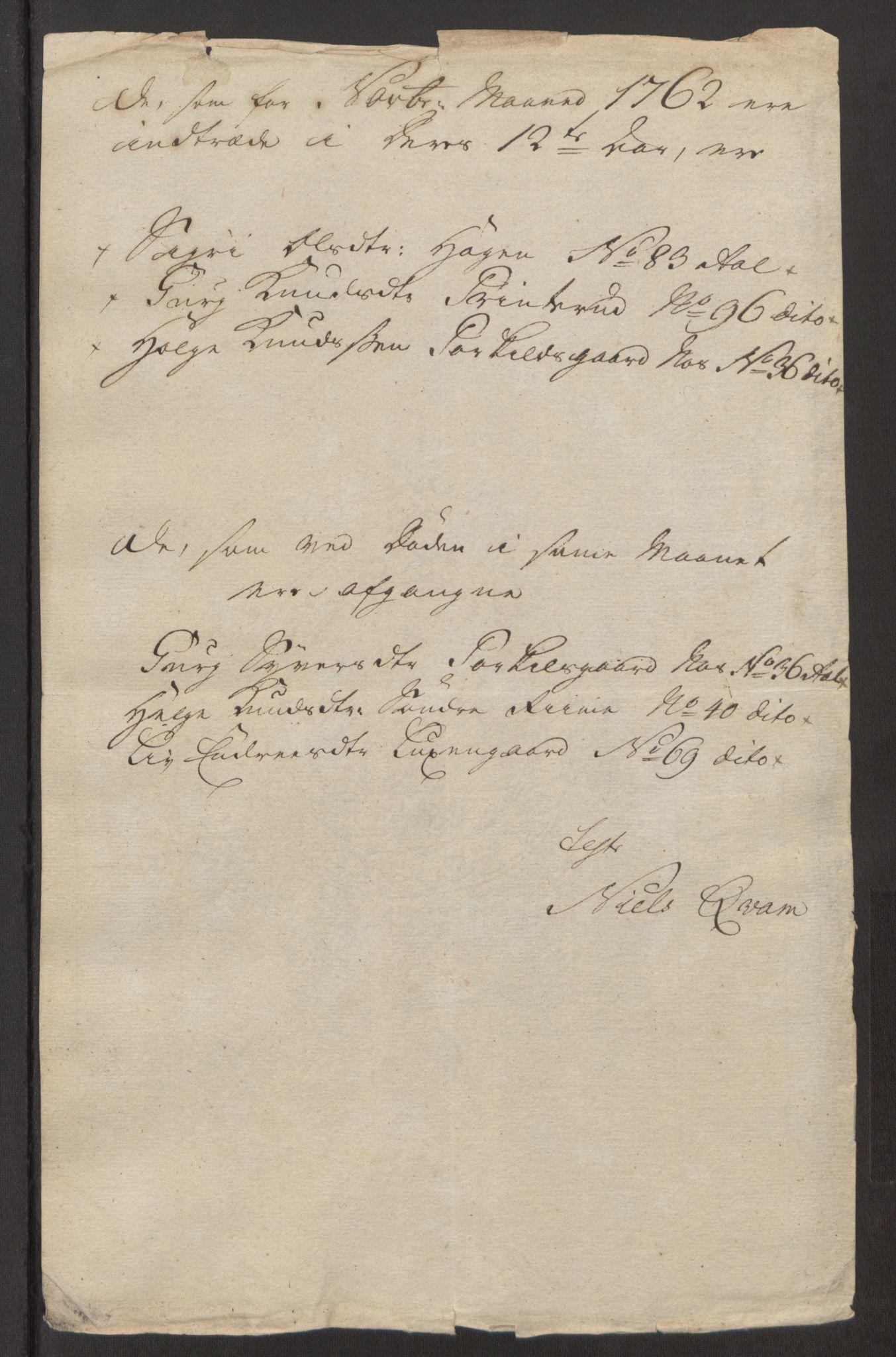 RA, Rentekammeret inntil 1814, Reviderte regnskaper, Fogderegnskap, R23/L1565: Ekstraskatten Ringerike og Hallingdal, 1762-1763, s. 278