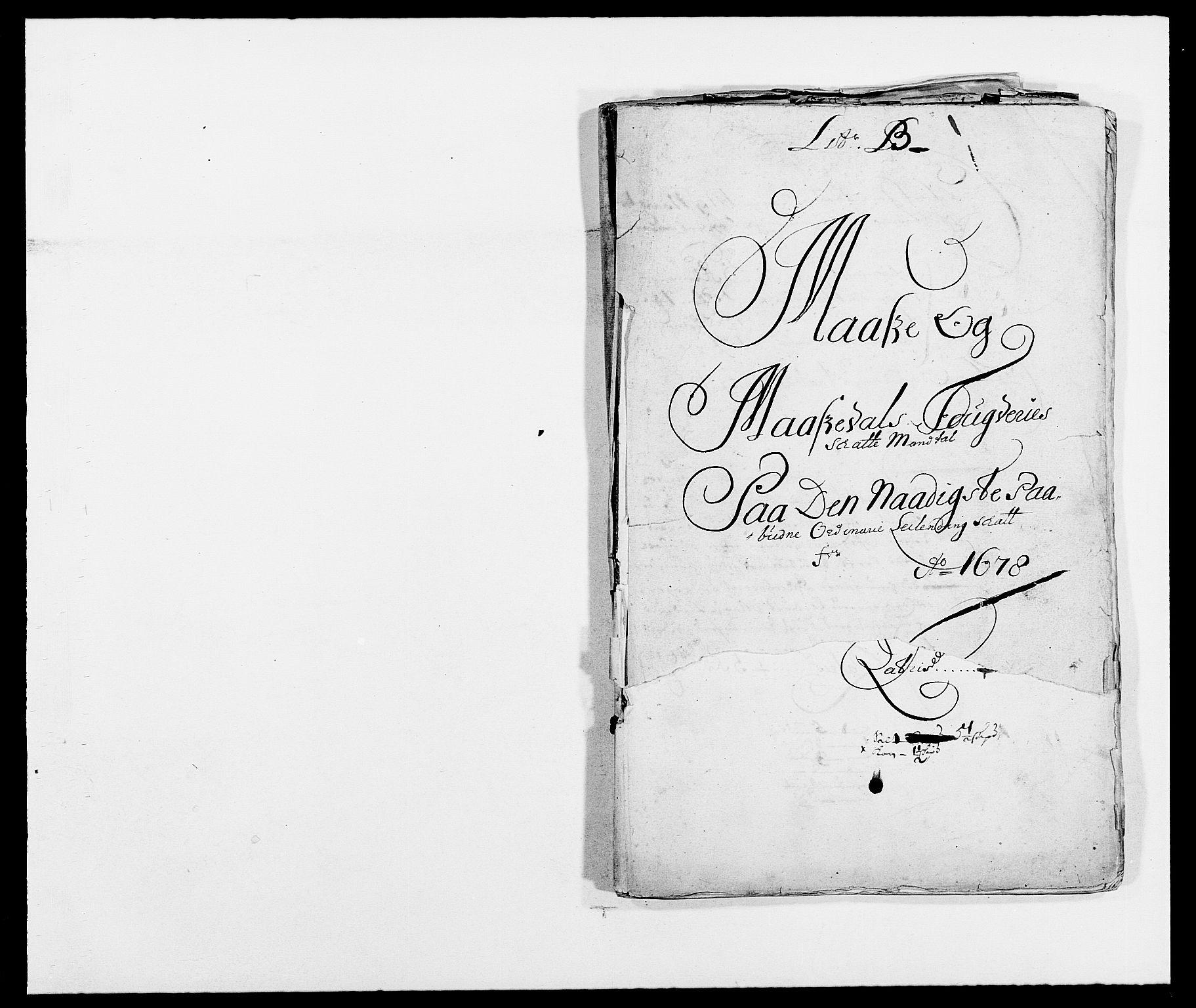 RA, Rentekammeret inntil 1814, Reviderte regnskaper, Fogderegnskap, R02/L0099: Fogderegnskap Moss og Verne kloster, 1678, s. 11