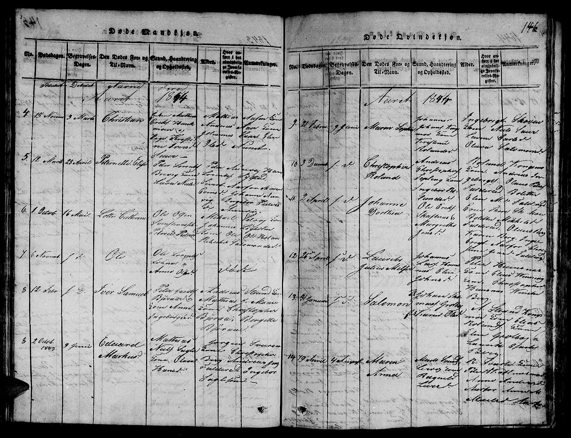 SAT, Ministerialprotokoller, klokkerbøker og fødselsregistre - Nord-Trøndelag, 780/L0648: Klokkerbok nr. 780C01 /3, 1815-1877, s. 146
