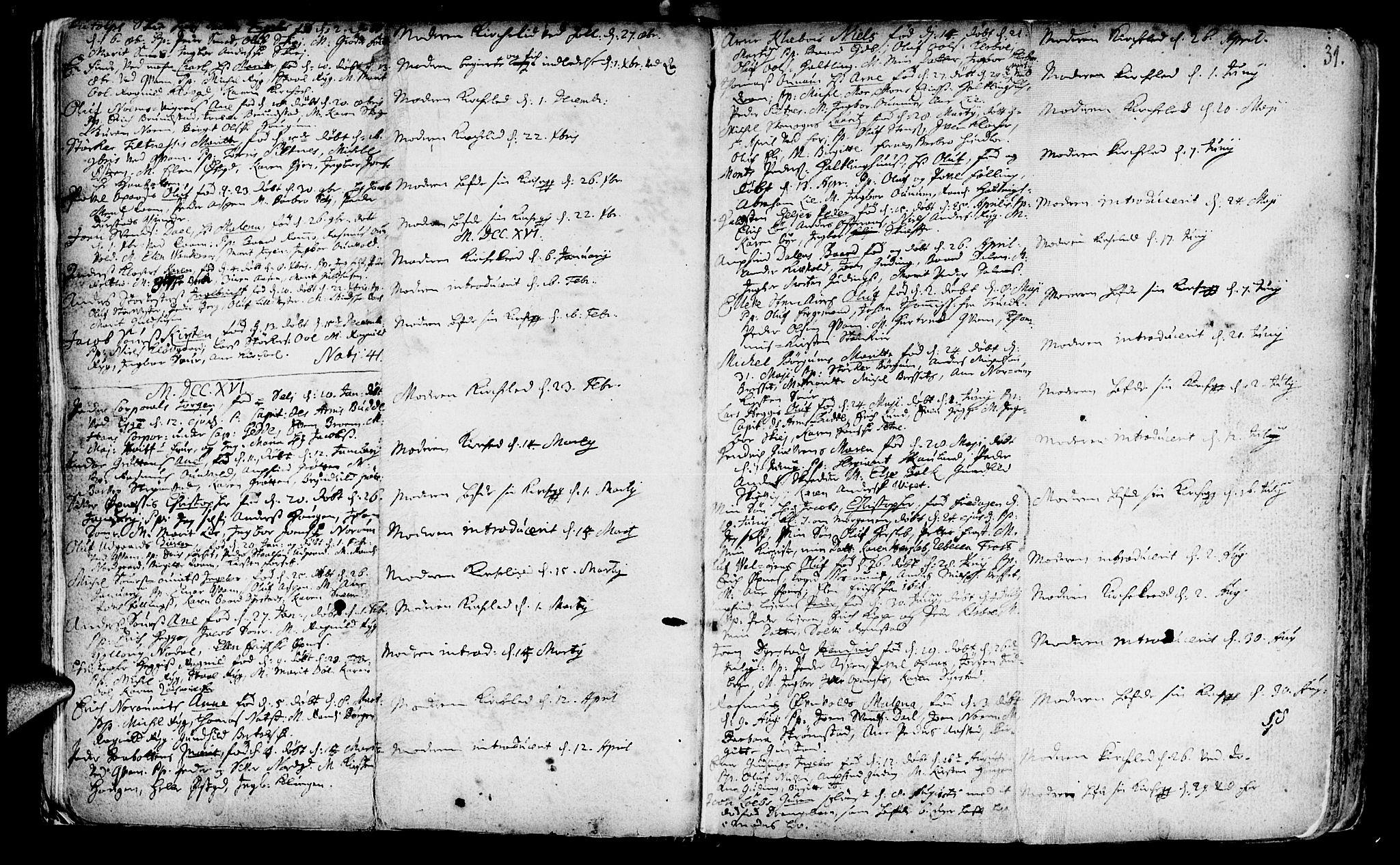 SAT, Ministerialprotokoller, klokkerbøker og fødselsregistre - Nord-Trøndelag, 746/L0439: Ministerialbok nr. 746A01, 1688-1759, s. 31