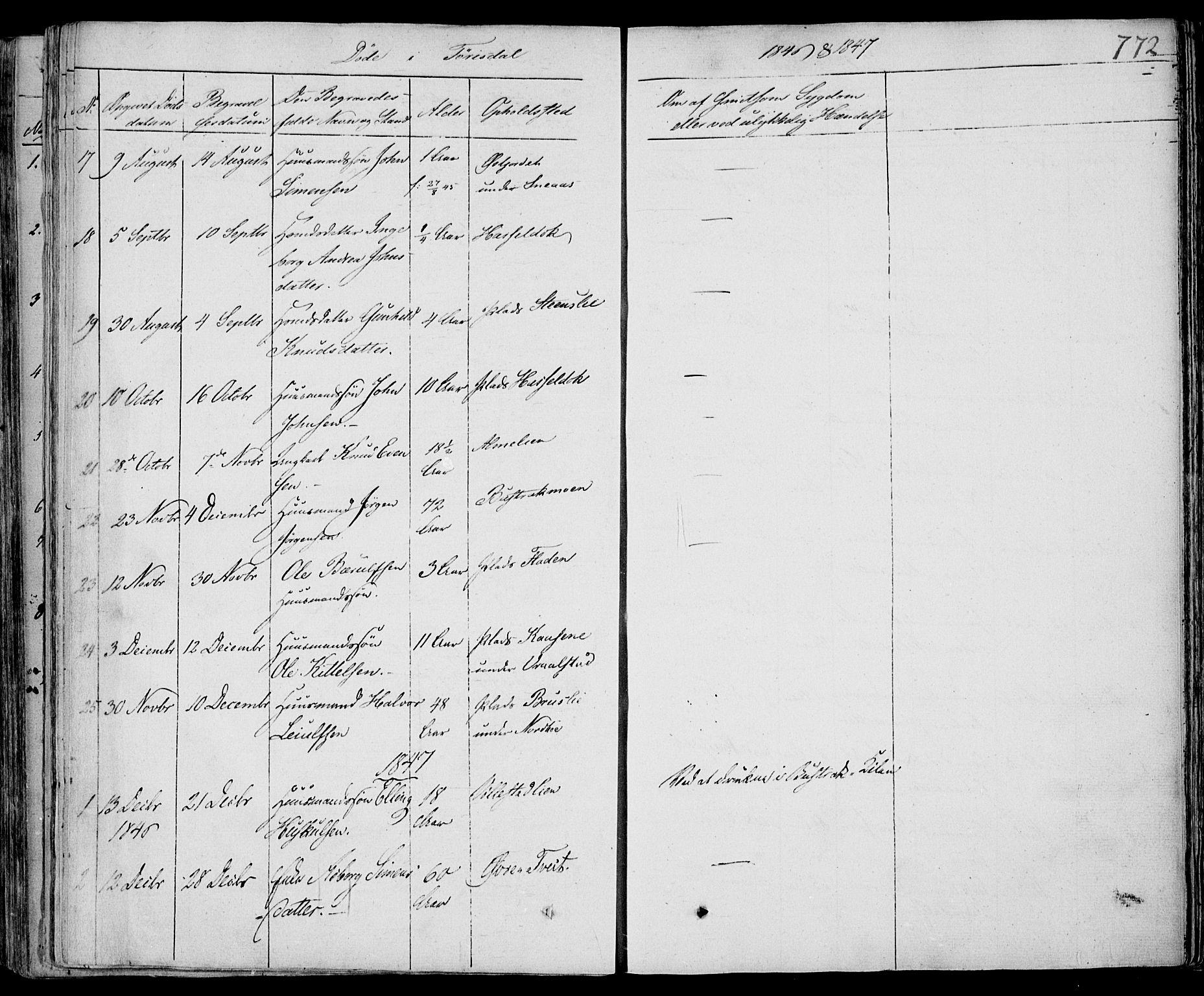 SAKO, Drangedal kirkebøker, F/Fa/L0007b: Ministerialbok nr. 7b, 1837-1856, s. 772
