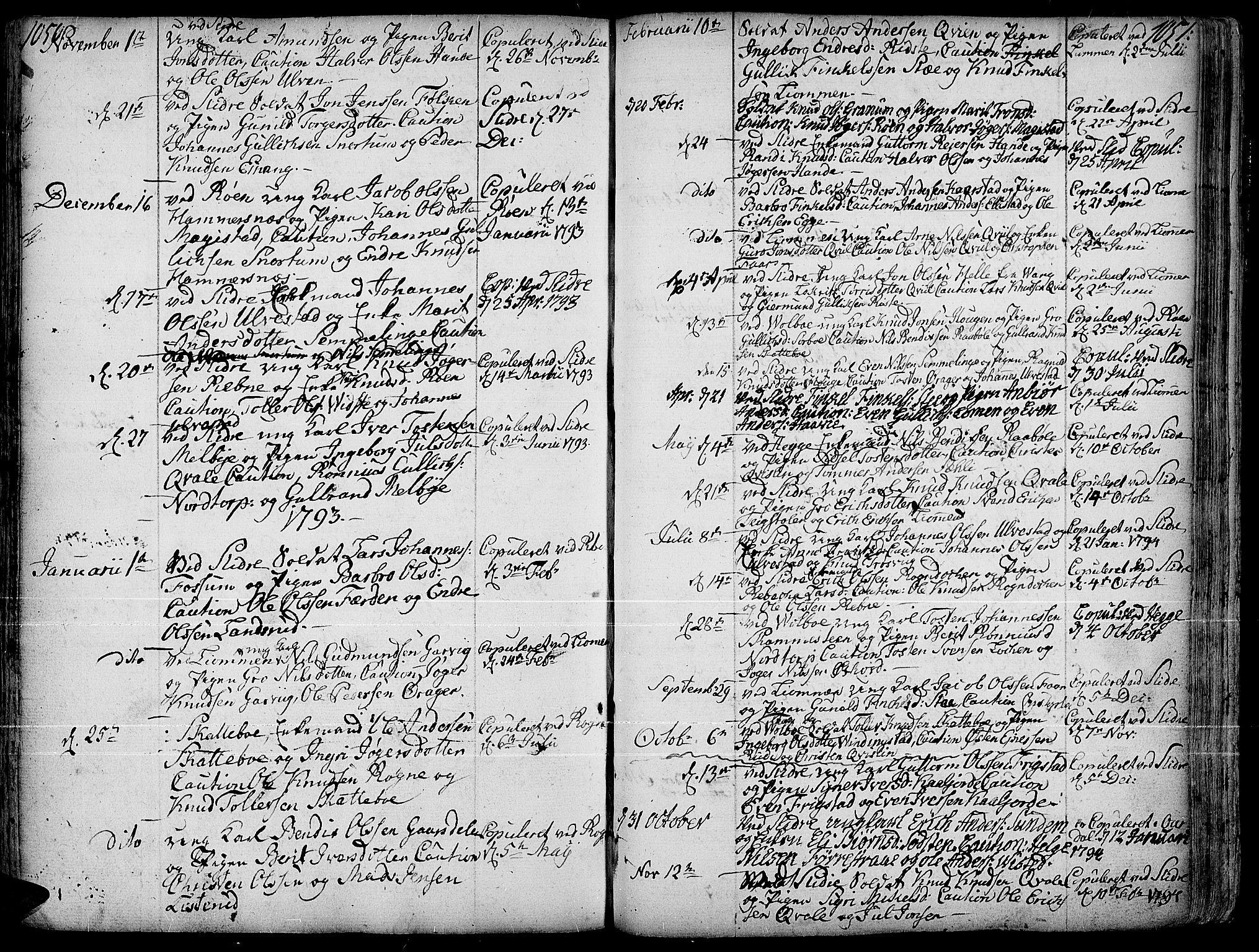 SAH, Slidre prestekontor, Ministerialbok nr. 1, 1724-1814, s. 1050-1051
