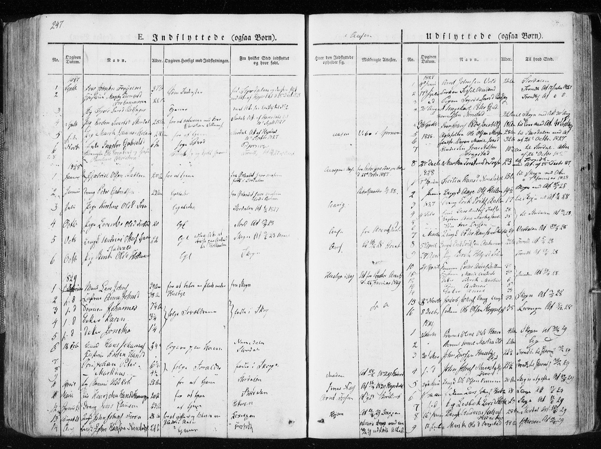 SAT, Ministerialprotokoller, klokkerbøker og fødselsregistre - Nord-Trøndelag, 713/L0114: Ministerialbok nr. 713A05, 1827-1839, s. 247