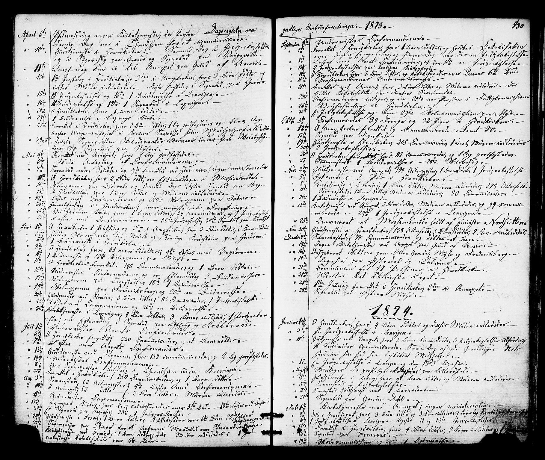 SAT, Ministerialprotokoller, klokkerbøker og fødselsregistre - Nord-Trøndelag, 701/L0009: Ministerialbok nr. 701A09 /1, 1864-1882, s. 430