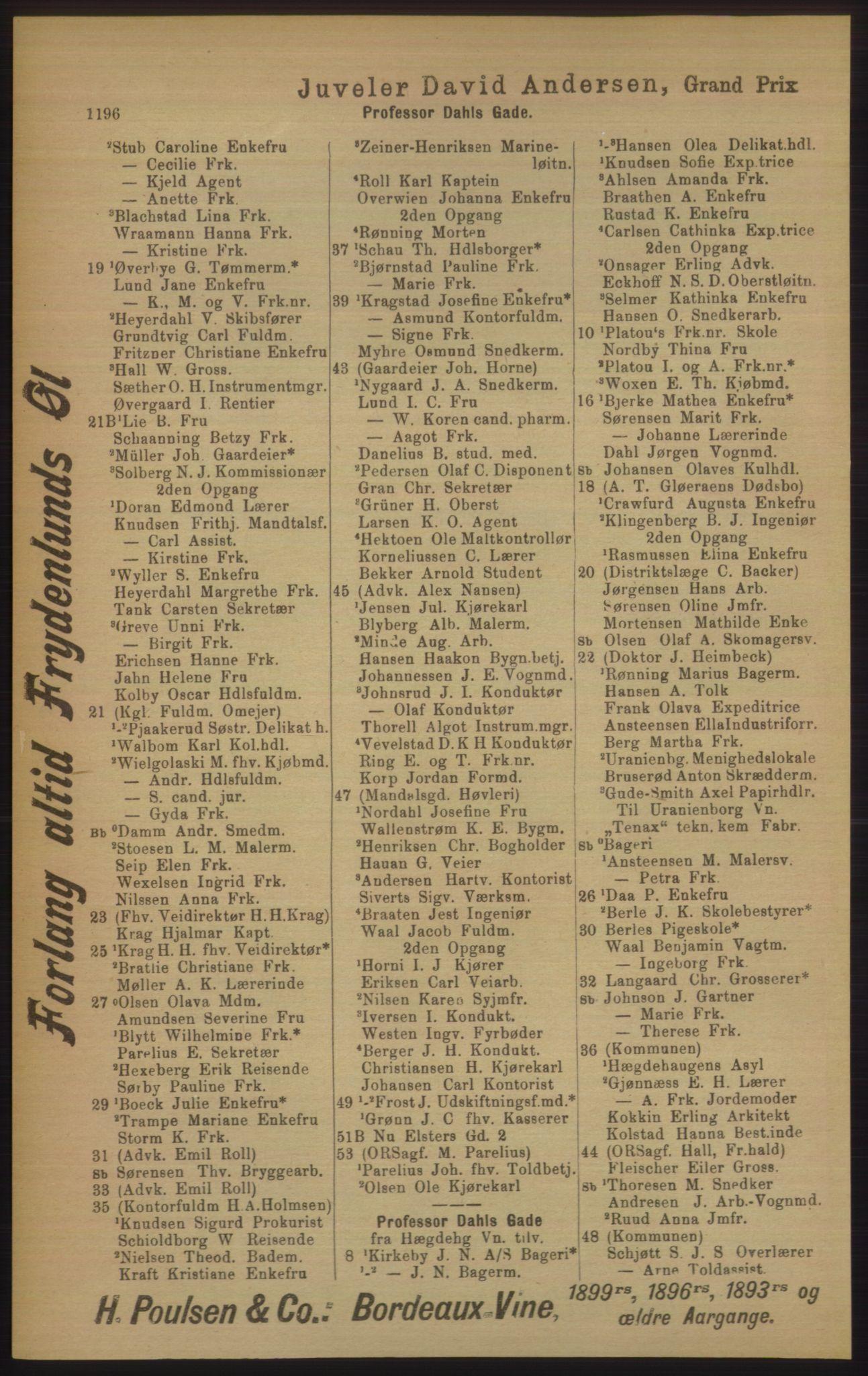 PUBL, Kristiania/Oslo adressebok, 1906, s. 1196