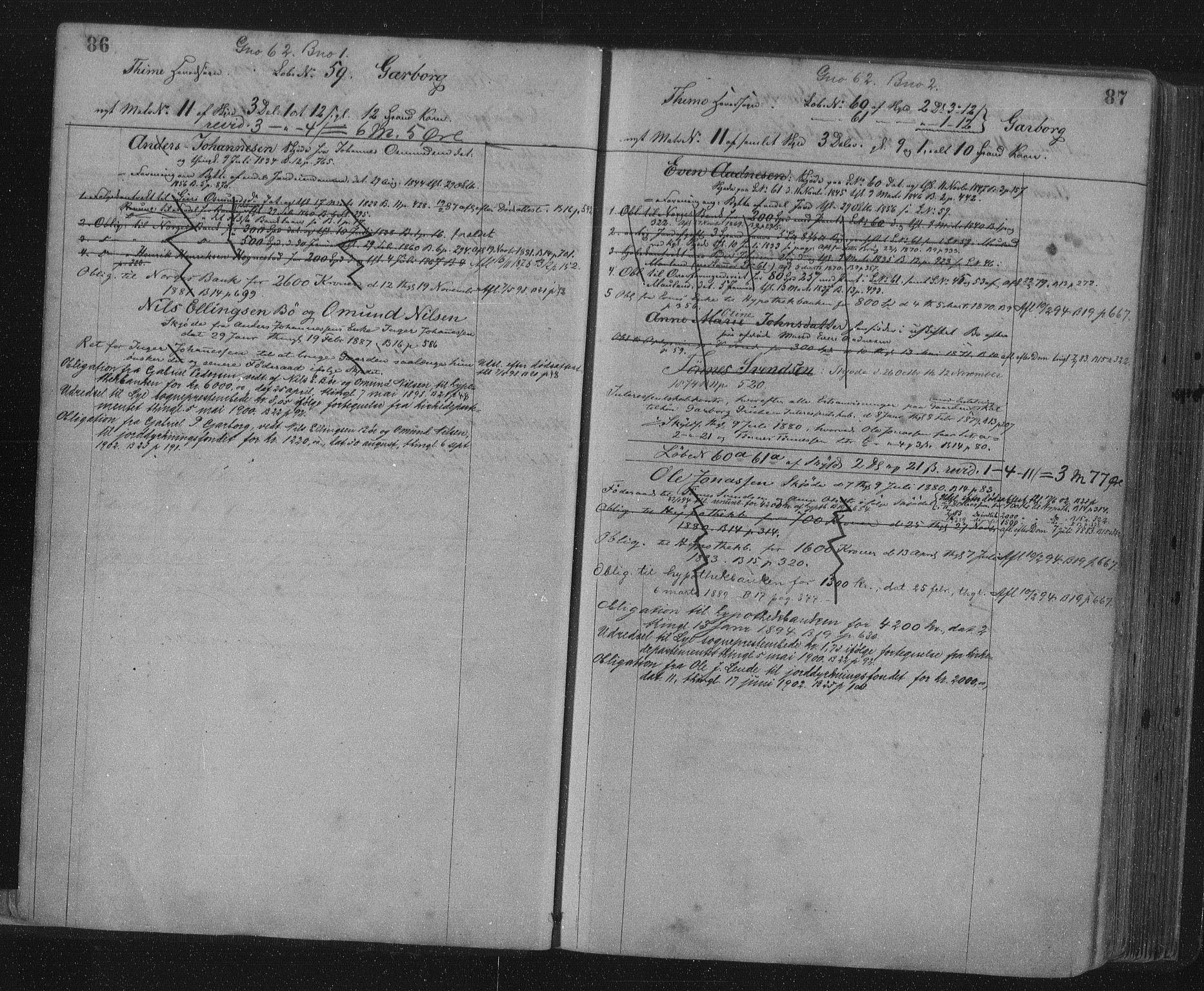 SAST, Jæren sorenskriveri, 4/41/41ABA/L0001: Panteregister nr. 41 ABA1, 1898, s. 86-87
