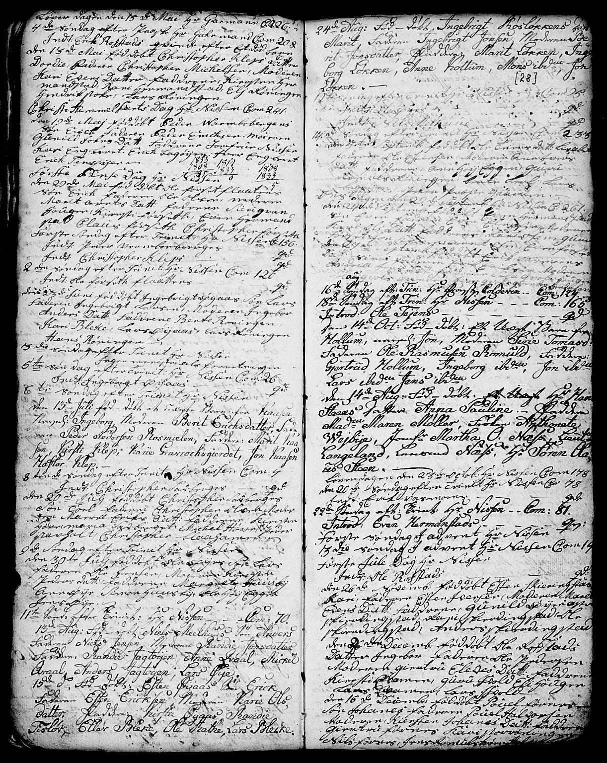 SAT, Ministerialprotokoller, klokkerbøker og fødselsregistre - Sør-Trøndelag, 691/L1091: Klokkerbok nr. 691C02, 1802-1815, s. 28