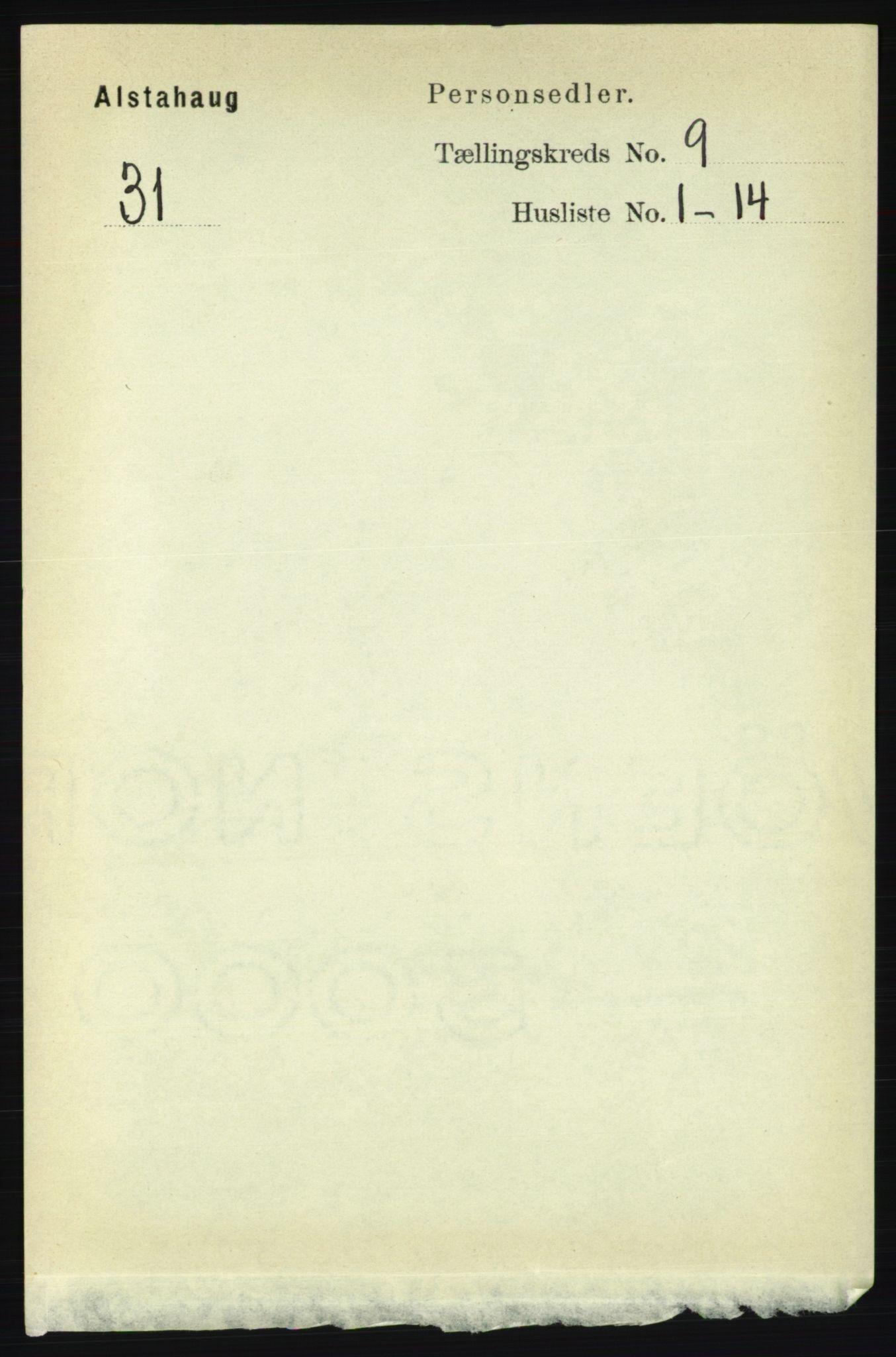 RA, Folketelling 1891 for 1820 Alstahaug herred, 1891, s. 3238