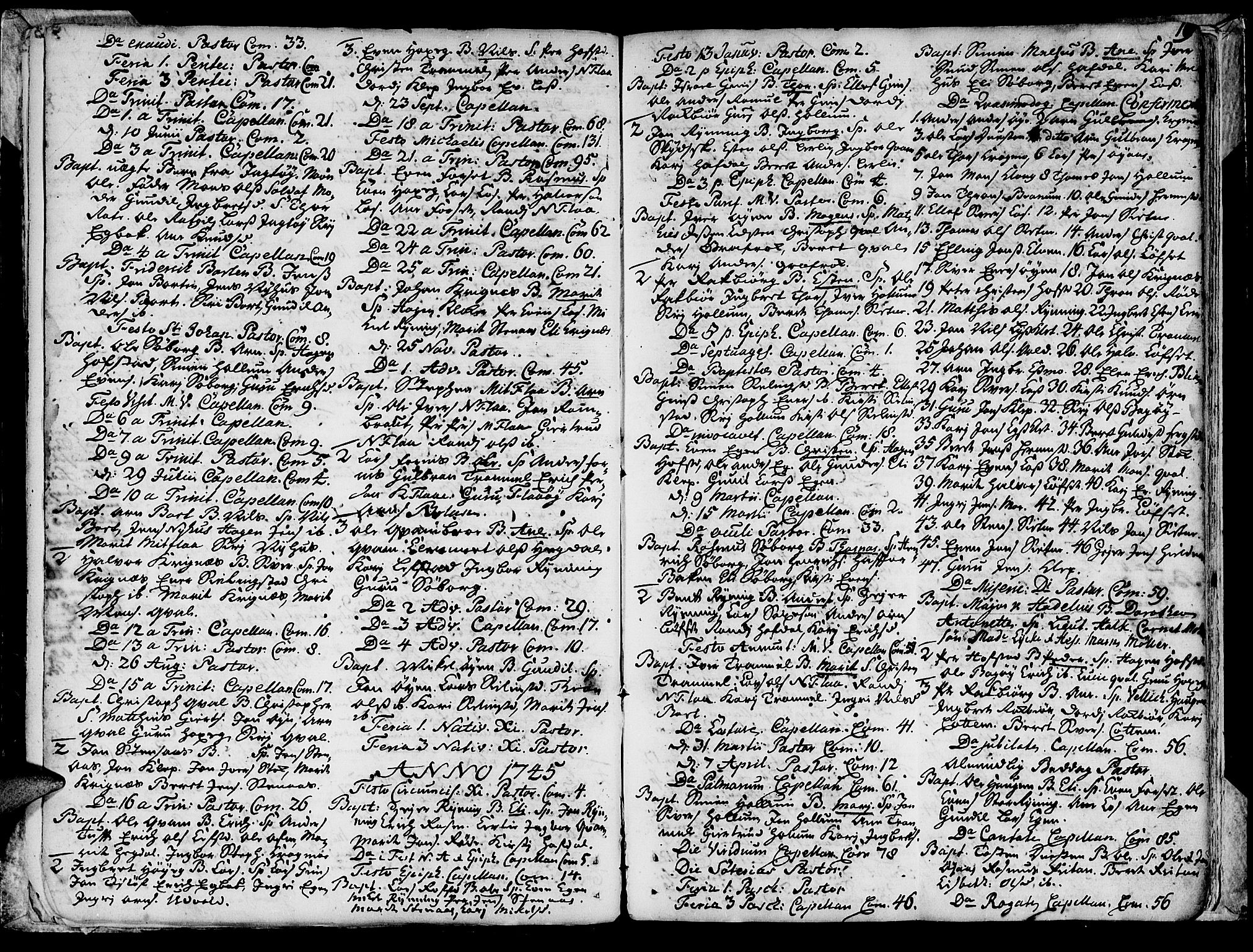 SAT, Ministerialprotokoller, klokkerbøker og fødselsregistre - Sør-Trøndelag, 691/L1057: Ministerialbok nr. 691A01 /1, 1740-1767, s. 19