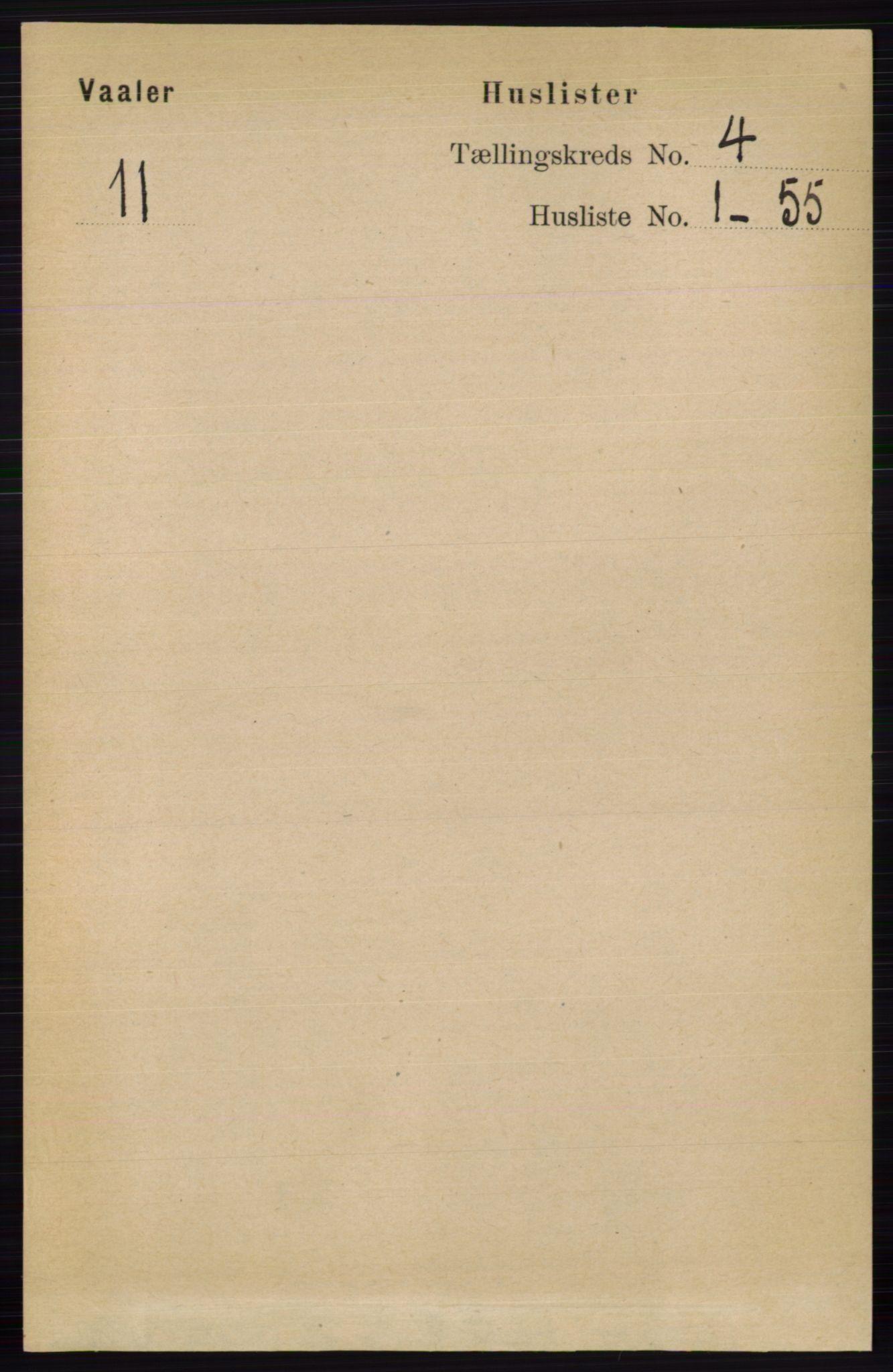 RA, Folketelling 1891 for 0426 Våler herred, 1891, s. 1405
