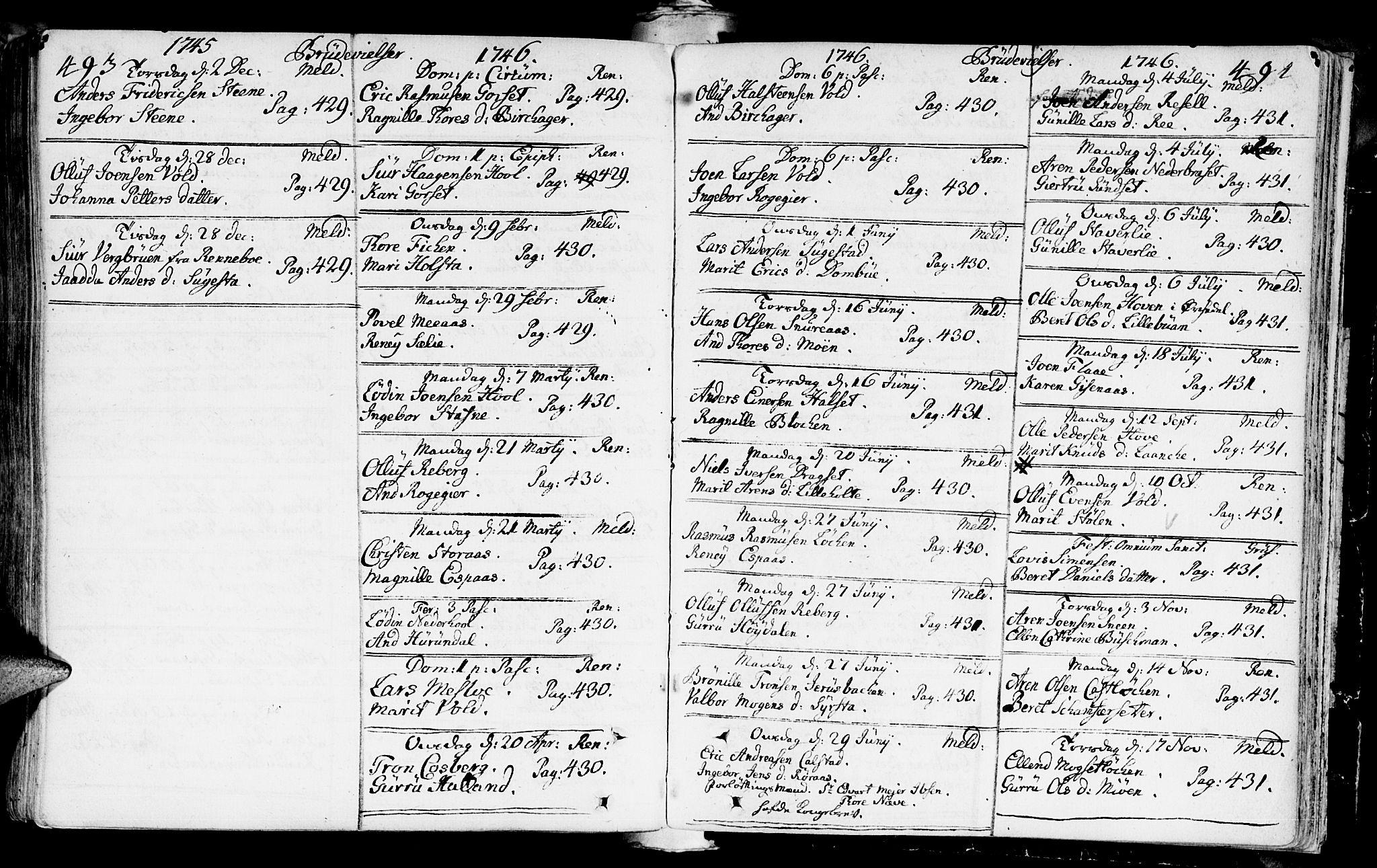 SAT, Ministerialprotokoller, klokkerbøker og fødselsregistre - Sør-Trøndelag, 672/L0850: Ministerialbok nr. 672A03, 1725-1751, s. 493-494