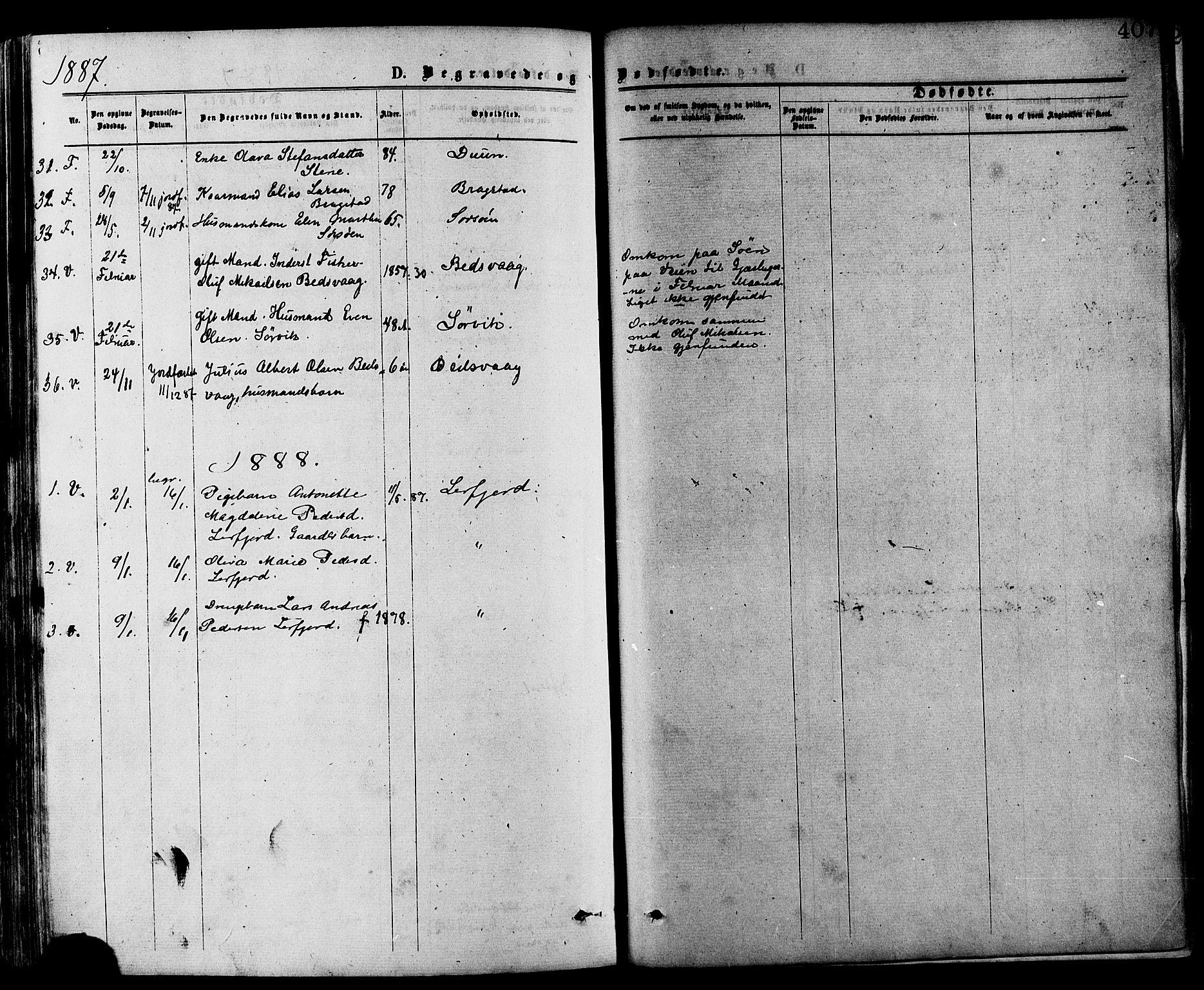SAT, Ministerialprotokoller, klokkerbøker og fødselsregistre - Nord-Trøndelag, 773/L0616: Ministerialbok nr. 773A07, 1870-1887, s. 407