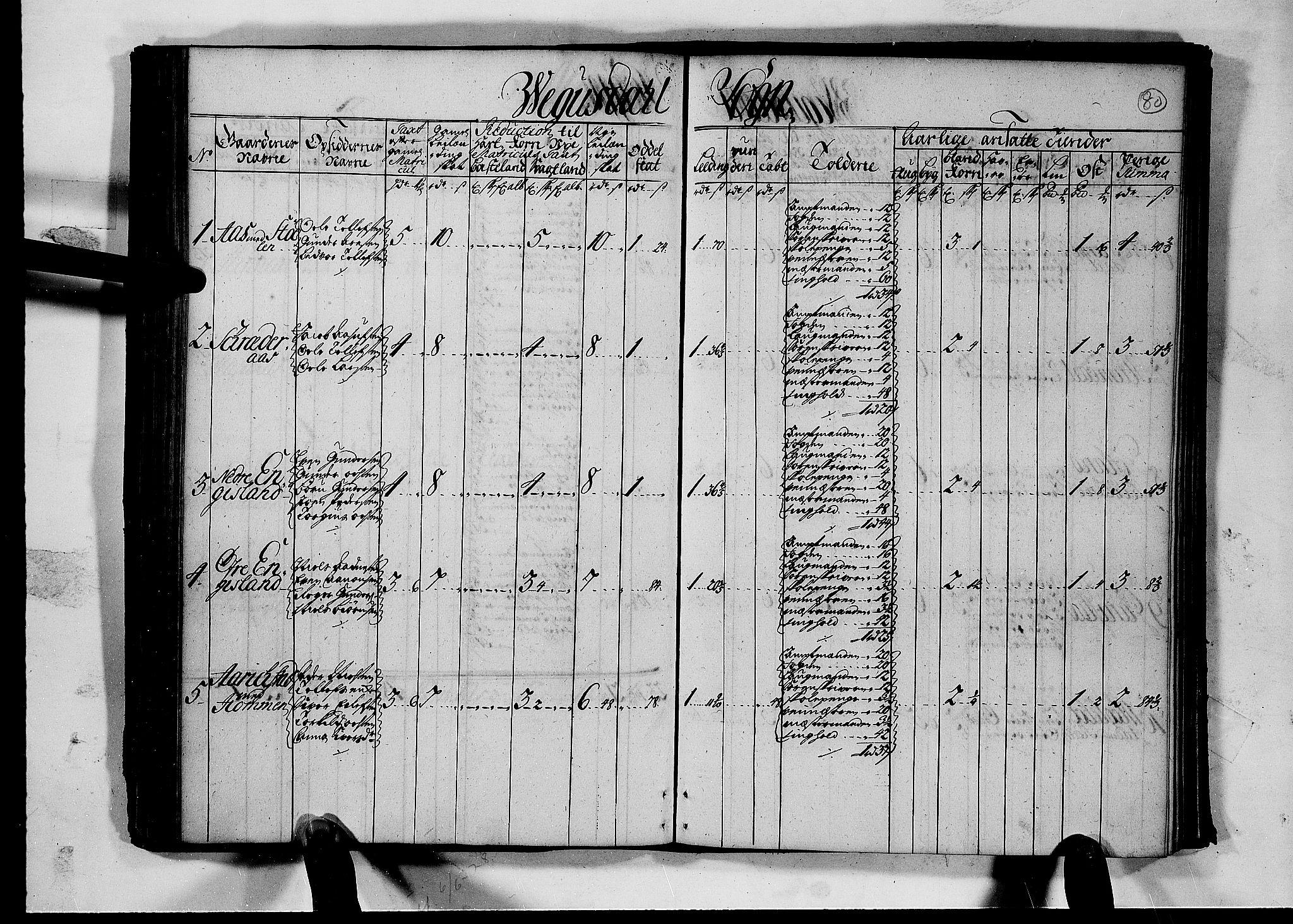 RA, Rentekammeret inntil 1814, Realistisk ordnet avdeling, N/Nb/Nbf/L0126: Råbyggelag matrikkelprotokoll, 1723, s. 79b-80a