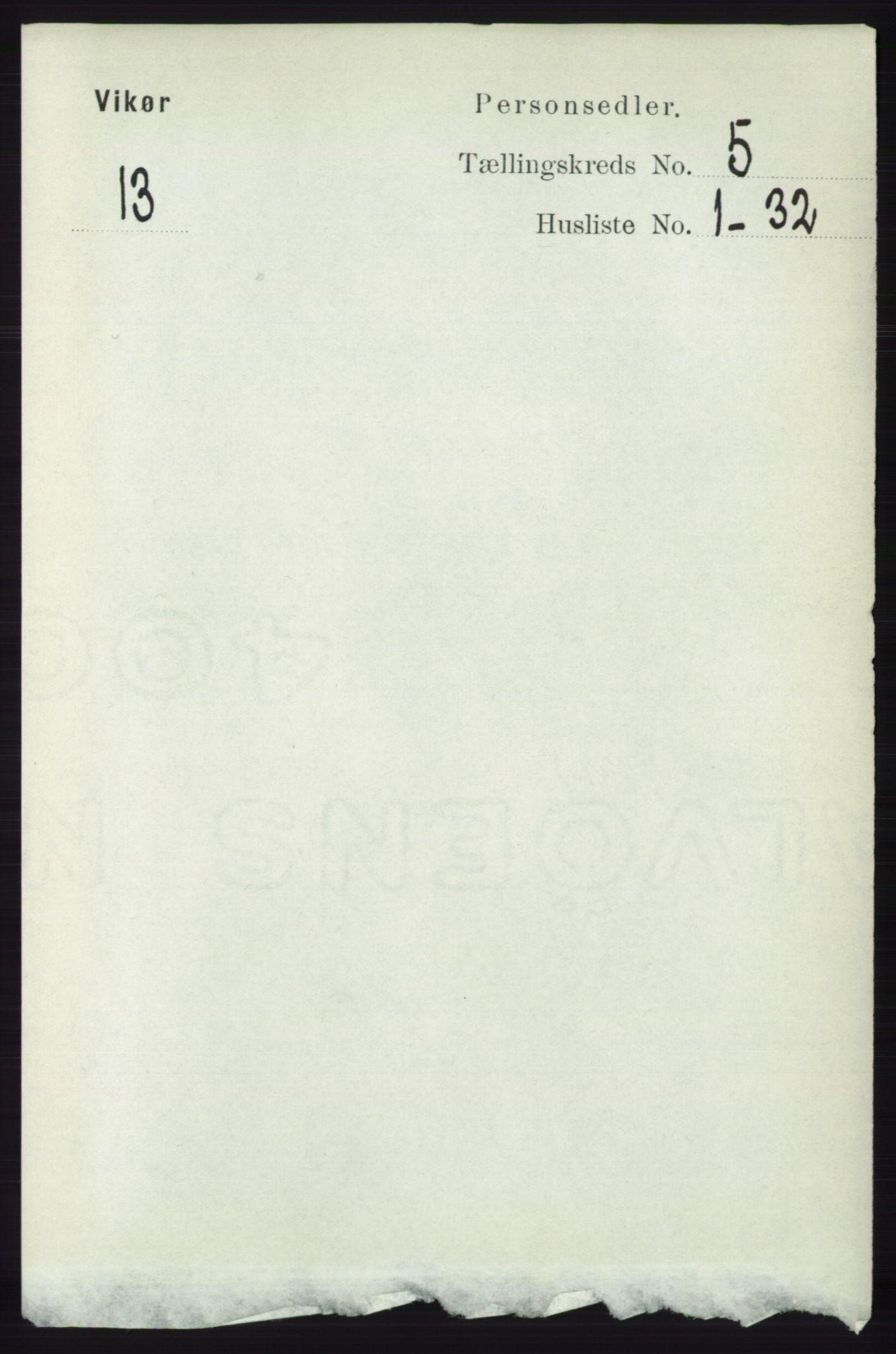 RA, Folketelling 1891 for 1238 Vikør herred, 1891, s. 1416