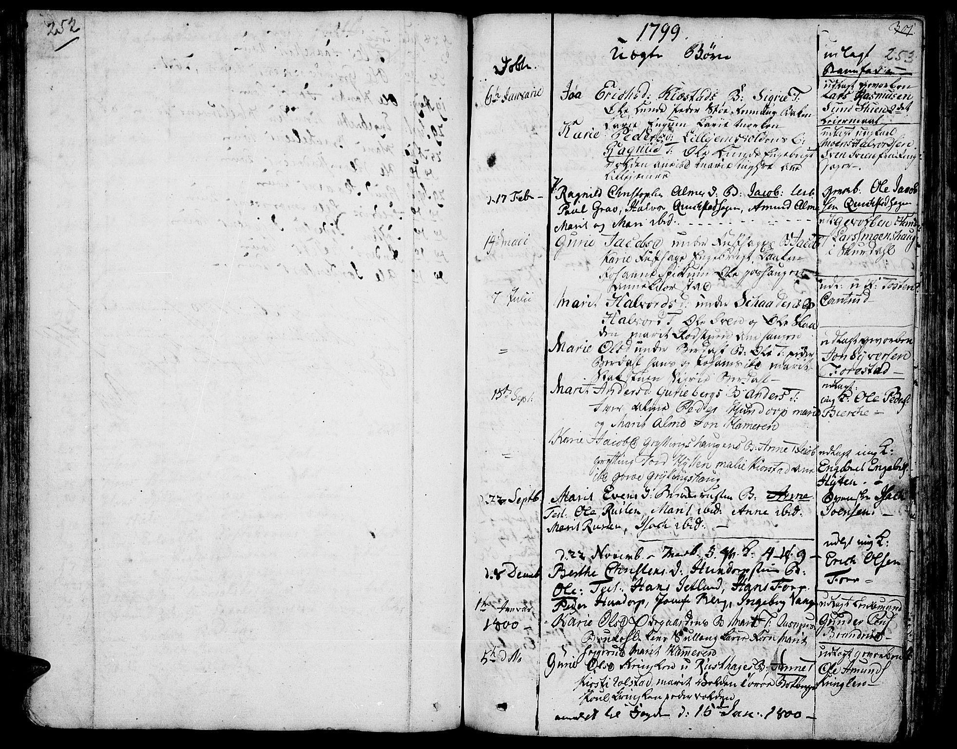 SAH, Fron prestekontor, H/Ha/Haa/L0001: Ministerialbok nr. 1, 1799-1816, s. 252-253