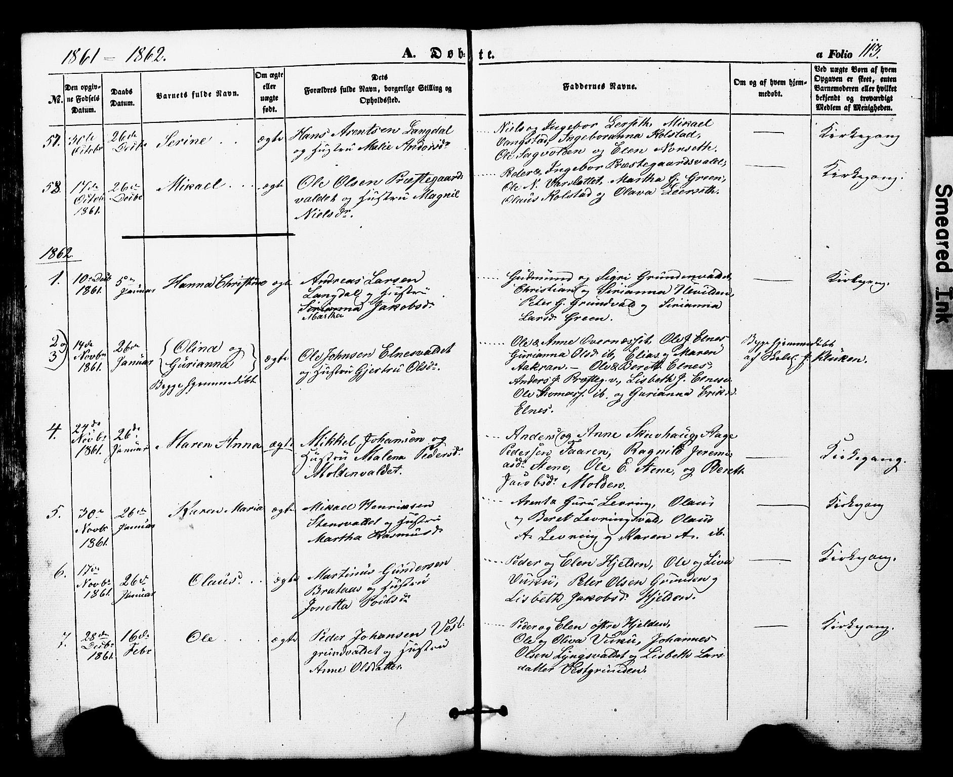 SAT, Ministerialprotokoller, klokkerbøker og fødselsregistre - Nord-Trøndelag, 724/L0268: Klokkerbok nr. 724C04, 1846-1878, s. 113