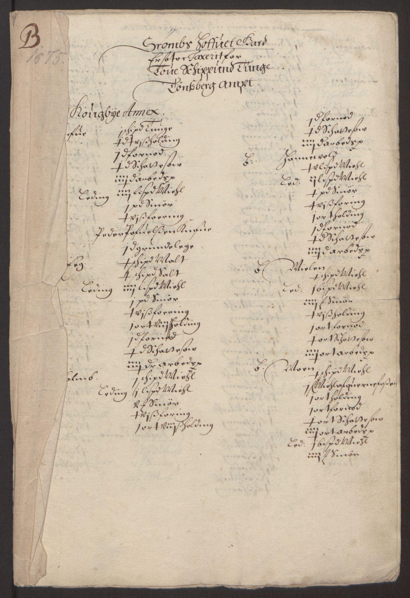 RA, Rentekammeret inntil 1814, Reviderte regnskaper, Fogderegnskap, R32/L1844: Fogderegnskap Jarlsberg grevskap, 1674-1675, s. 405