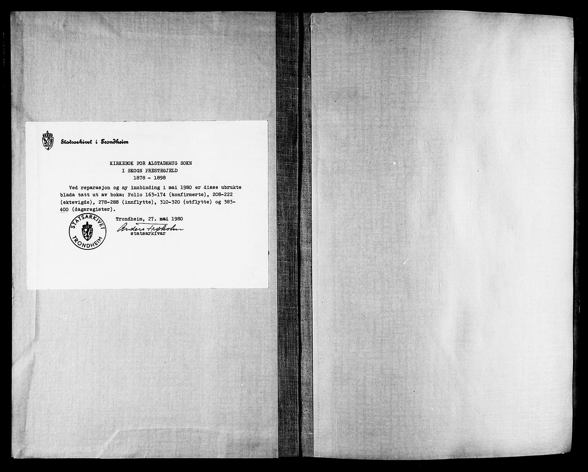 SAT, Ministerialprotokoller, klokkerbøker og fødselsregistre - Nord-Trøndelag, 717/L0159: Ministerialbok nr. 717A09, 1878-1898
