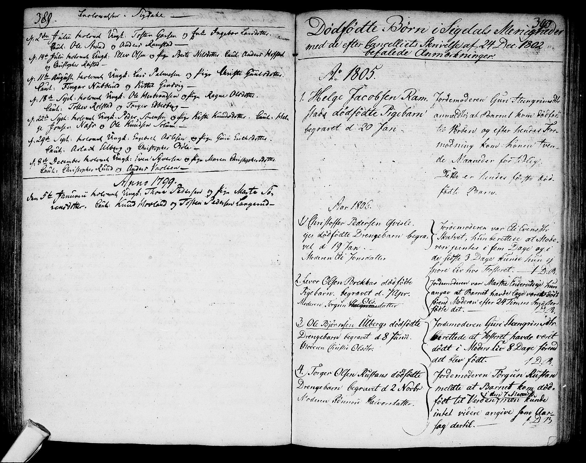 SAKO, Sigdal kirkebøker, F/Fa/L0003: Ministerialbok nr. I 3, 1793-1811, s. 389-390