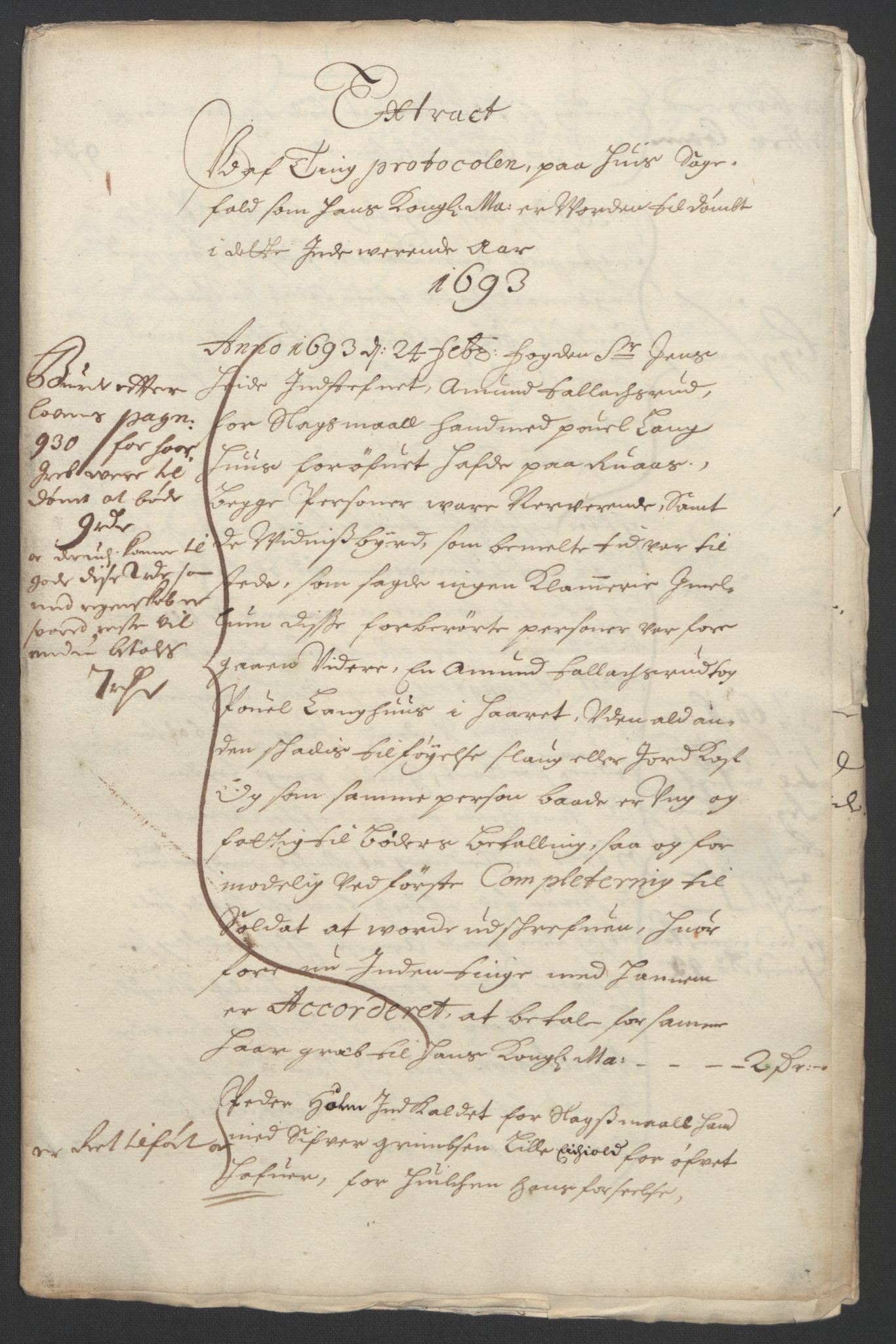 RA, Rentekammeret inntil 1814, Reviderte regnskaper, Fogderegnskap, R09/L0437: Fogderegnskap Follo, 1692-1693, s. 253