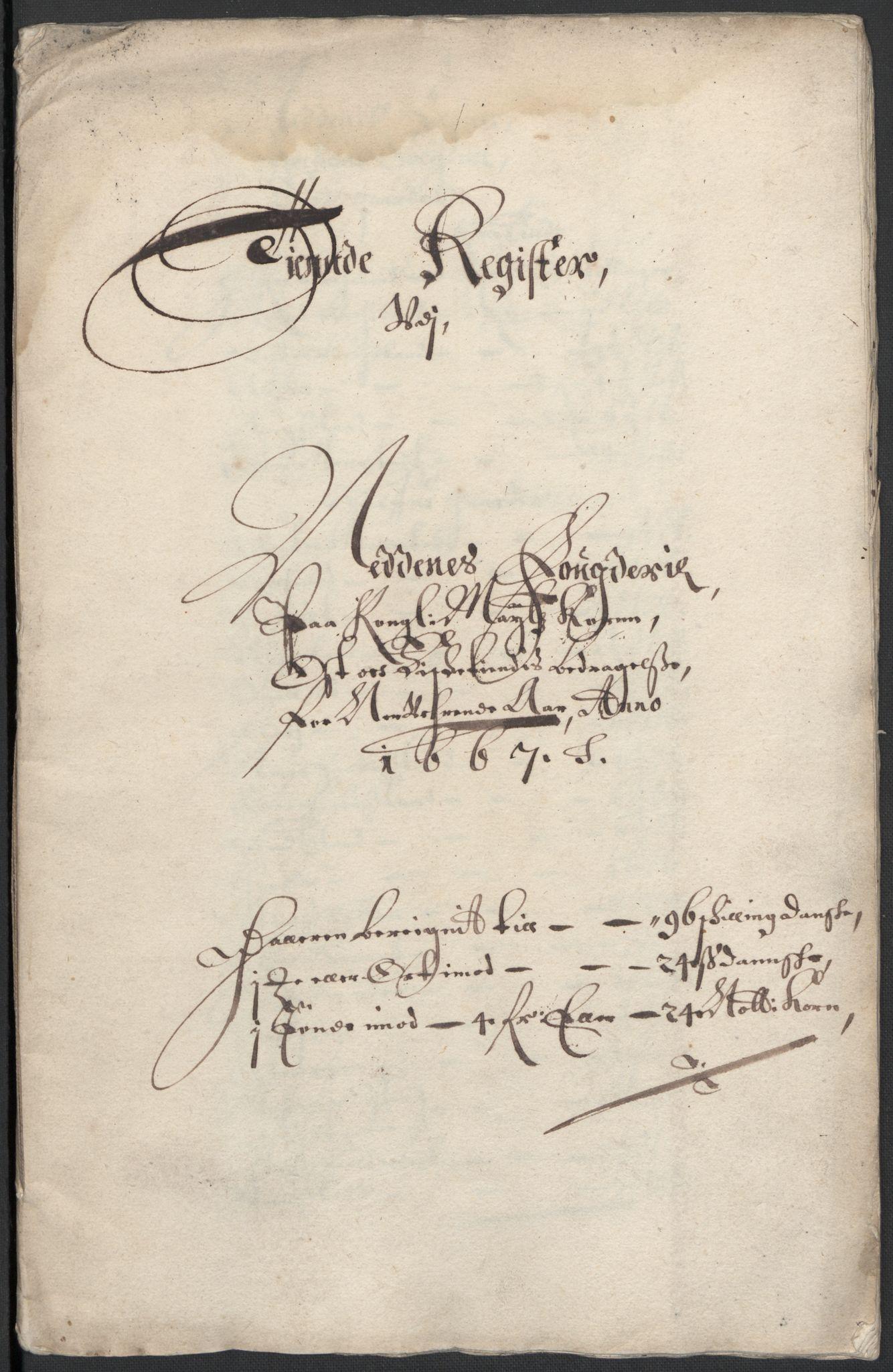 RA, Rentekammeret inntil 1814, Reviderte regnskaper, Fogderegnskap, R39/L2297: Fogderegnskap Nedenes, 1667-1669, s. 105