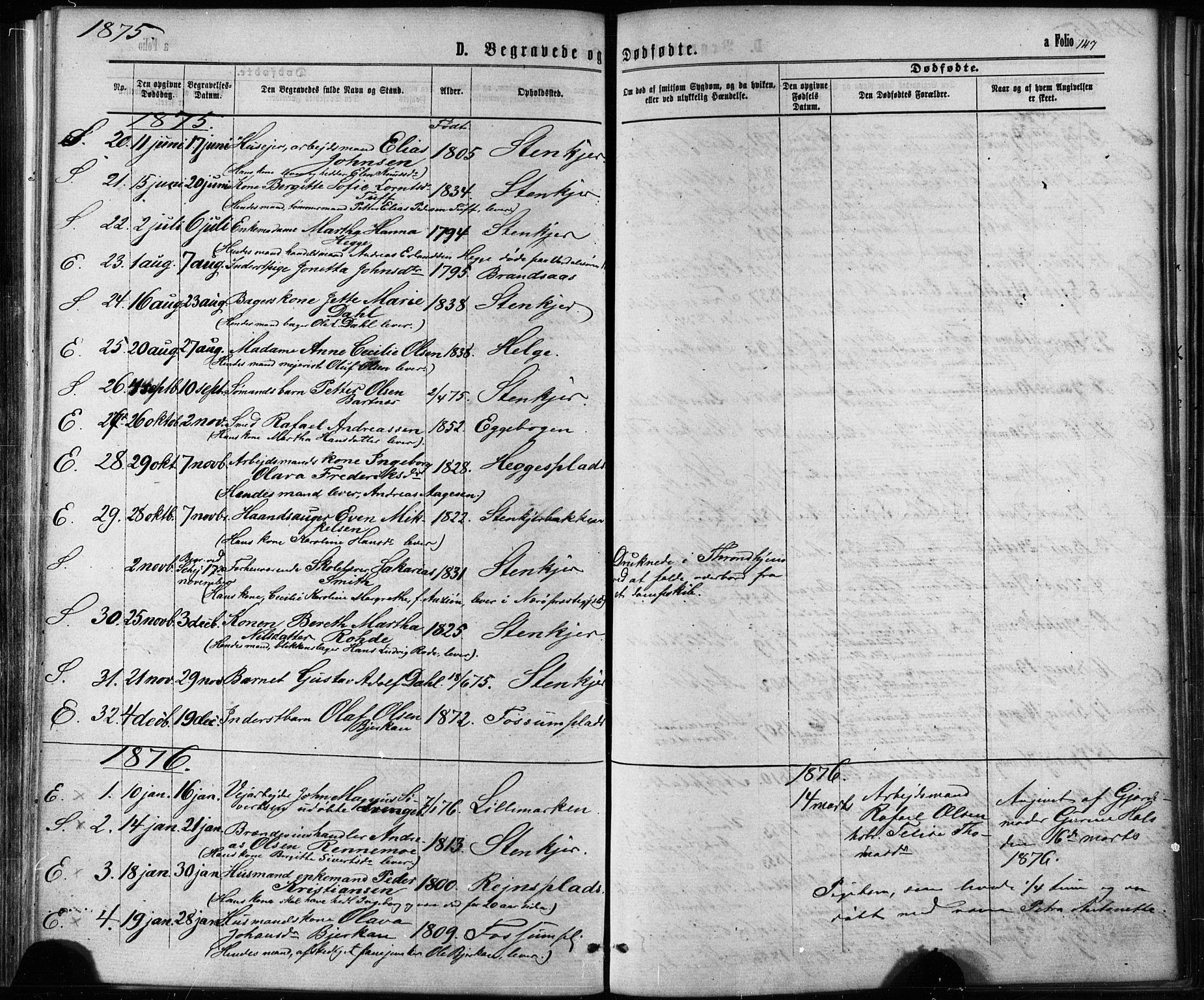 SAT, Ministerialprotokoller, klokkerbøker og fødselsregistre - Nord-Trøndelag, 739/L0370: Ministerialbok nr. 739A02, 1868-1881, s. 147