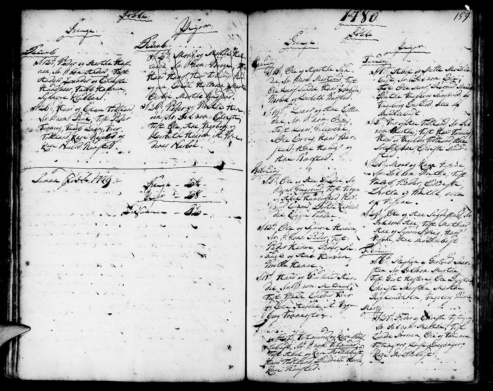 SAB, Davik Sokneprestembete, Ministerialbok nr. A 2, 1742-1816, s. 159