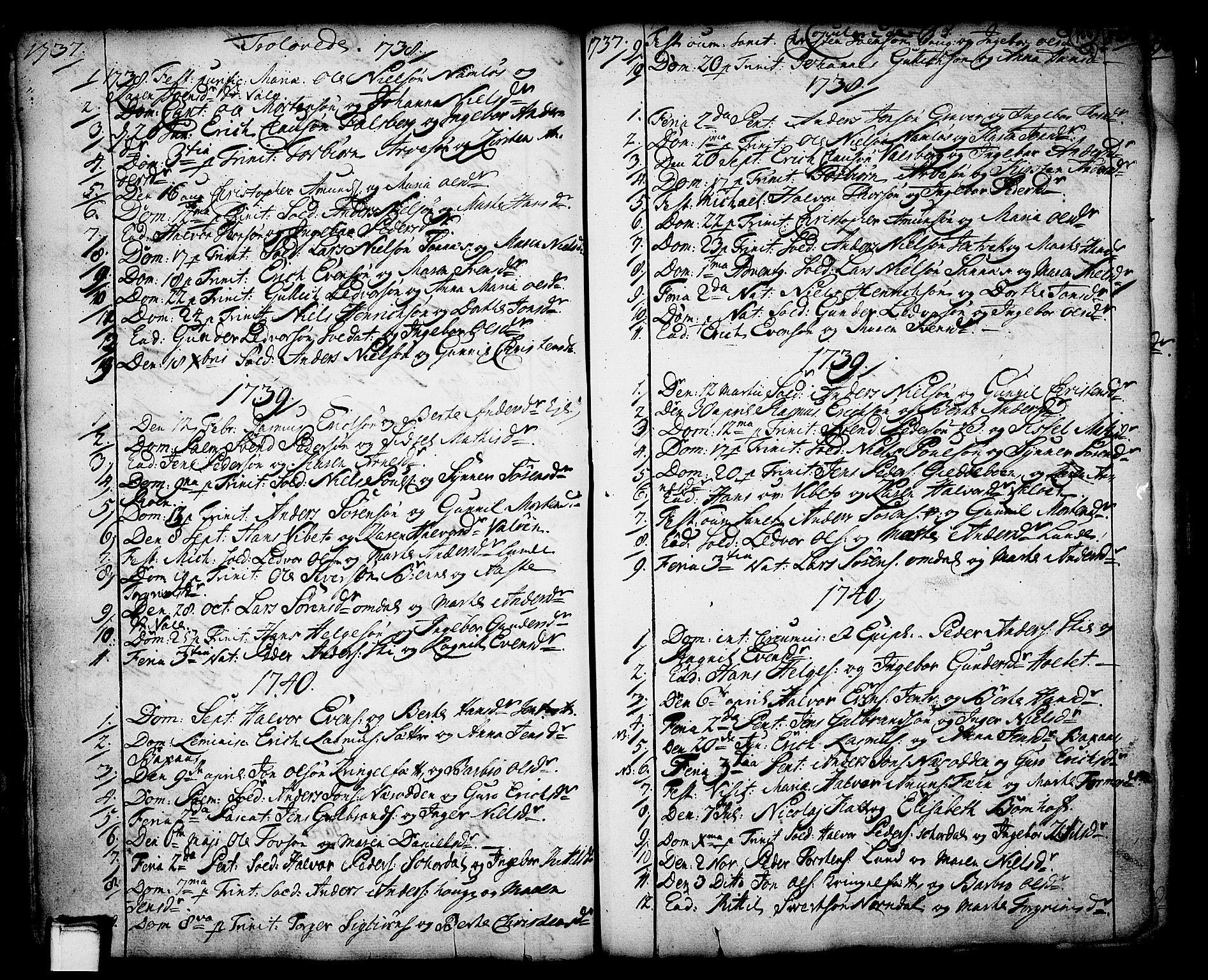 SAKO, Holla kirkebøker, F/Fa/L0001: Ministerialbok nr. 1, 1717-1779, s. 155