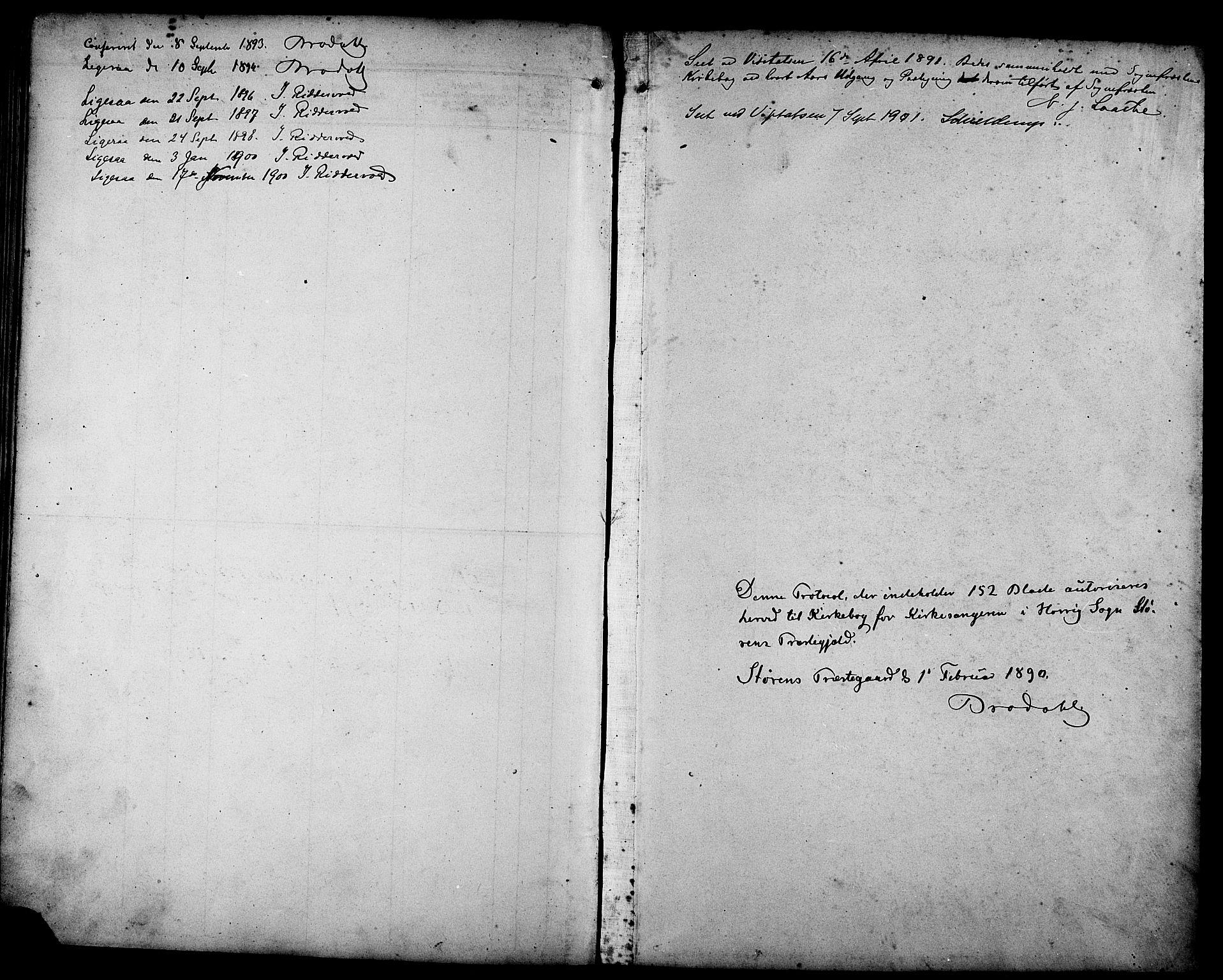 SAT, Ministerialprotokoller, klokkerbøker og fødselsregistre - Sør-Trøndelag, 692/L1111: Klokkerbok nr. 692C06, 1890-1904