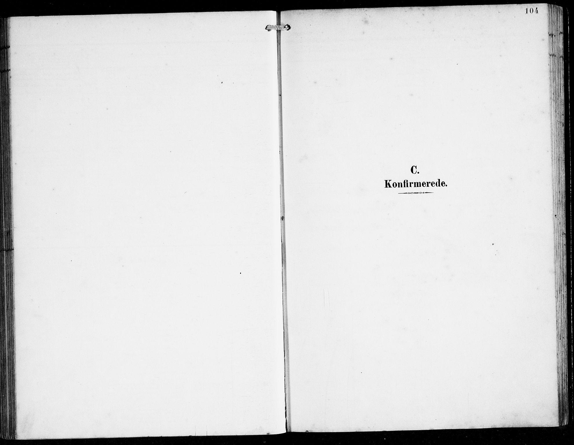 SAB, Herdla Sokneprestembete, H/Hab: Klokkerbok nr. C 1, 1900-1913, s. 104