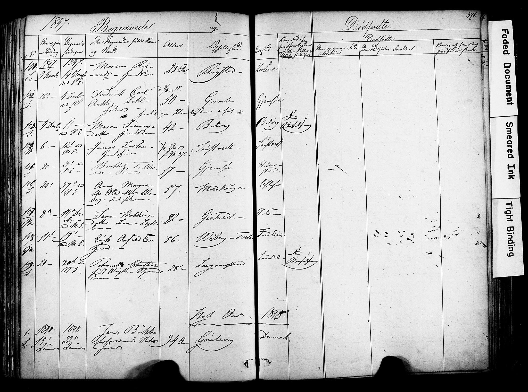 SAKO, Solum kirkebøker, F/Fa/L0006: Ministerialbok nr. I 6, 1844-1855, s. 376
