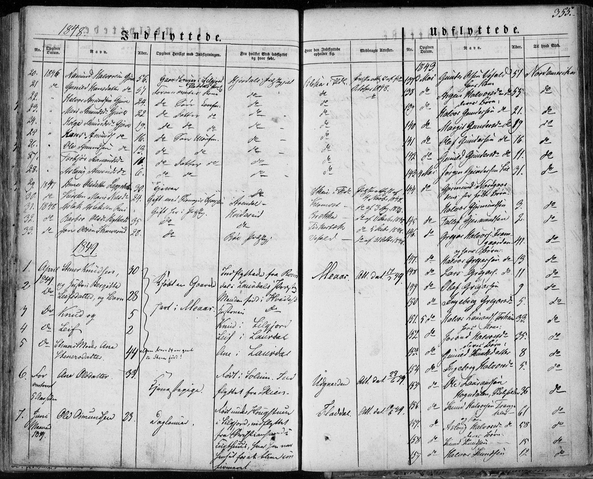 SAKO, Seljord kirkebøker, F/Fa/L0011: Ministerialbok nr. I 11, 1831-1849, s. 355