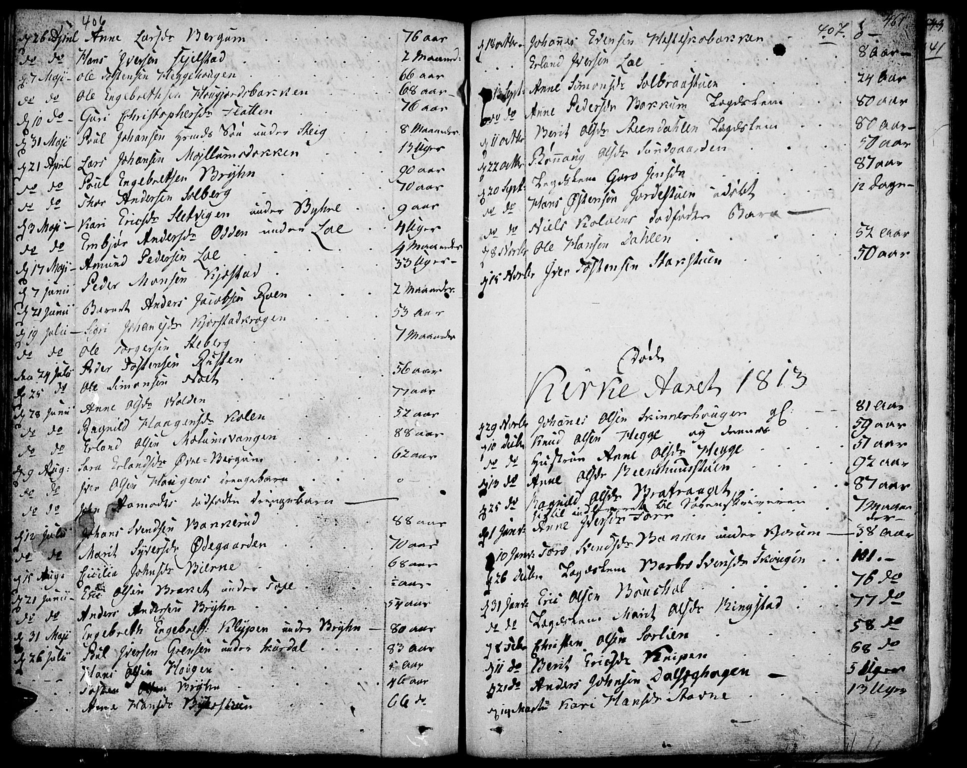 SAH, Fron prestekontor, H/Ha/Haa/L0001: Ministerialbok nr. 1, 1799-1816, s. 406-407