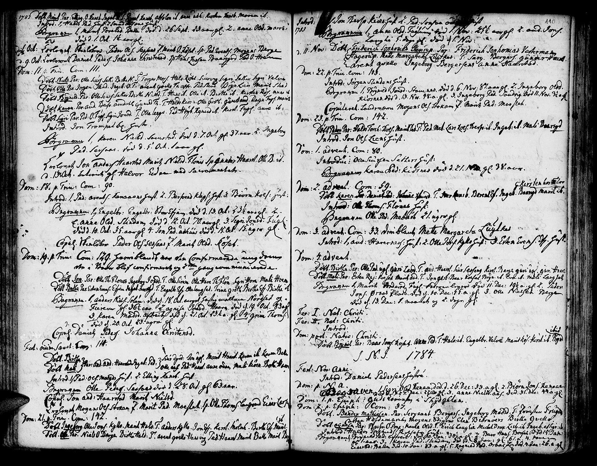 SAT, Ministerialprotokoller, klokkerbøker og fødselsregistre - Sør-Trøndelag, 695/L1138: Ministerialbok nr. 695A02 /1, 1757-1801, s. 110