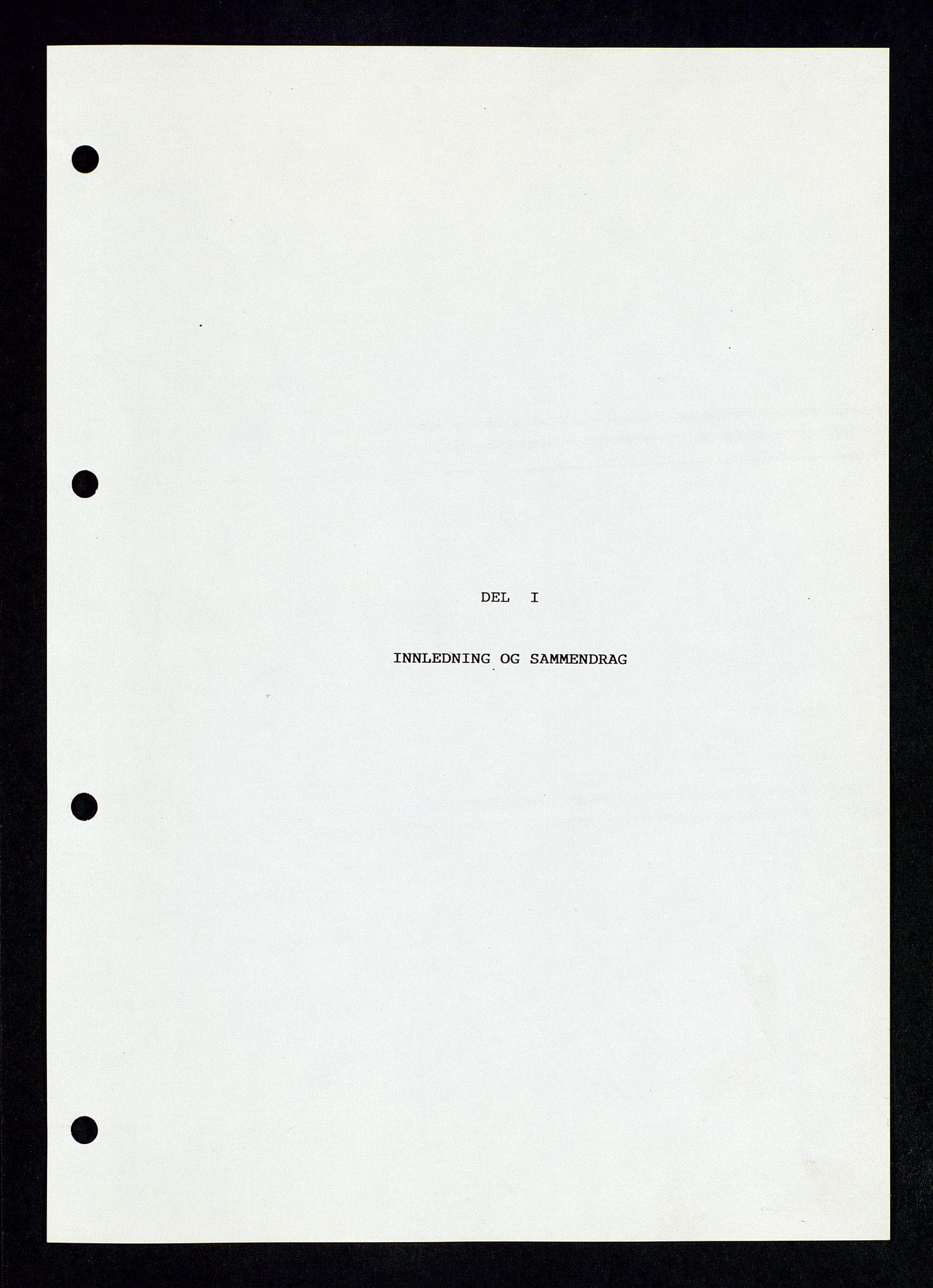 SAST, Pa 1339 - Statoil ASA, D/Dm/L0123: Rapporter, 1985-1988, s. 7