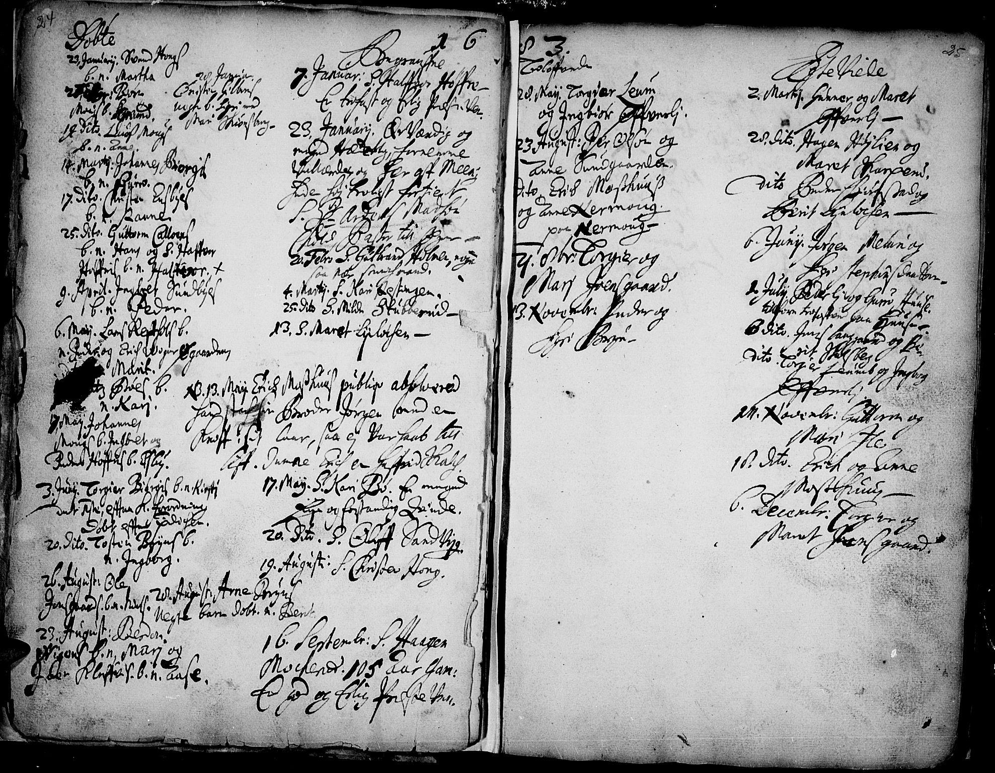 SAH, Øyer prestekontor, Ministerialbok nr. 1, 1671-1727, s. 24-25