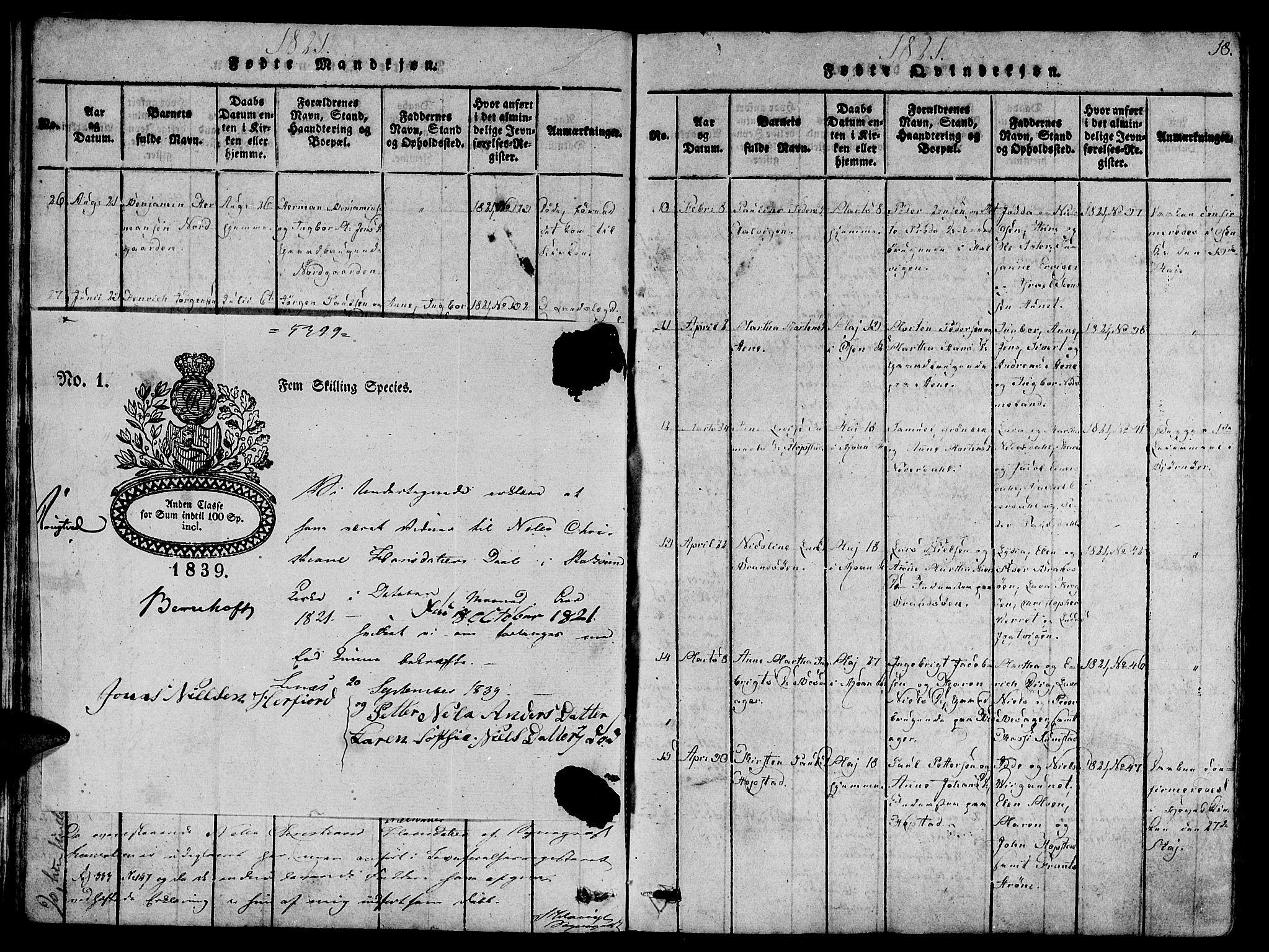SAT, Ministerialprotokoller, klokkerbøker og fødselsregistre - Sør-Trøndelag, 657/L0702: Ministerialbok nr. 657A03, 1818-1831, s. 18