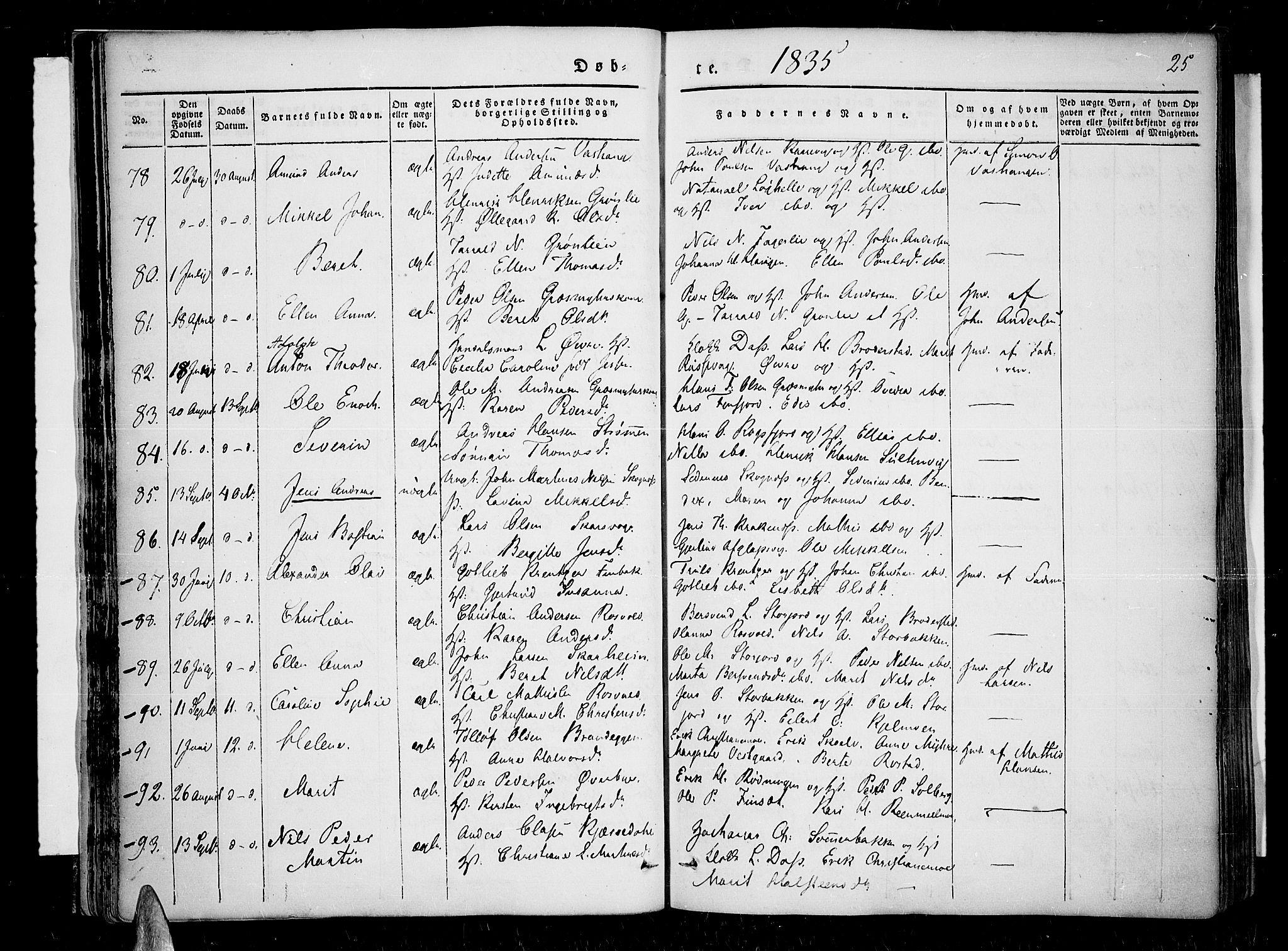 SATØ, Lenvik sokneprestembete, H/Ha: Ministerialbok nr. 4, 1832-1844, s. 25