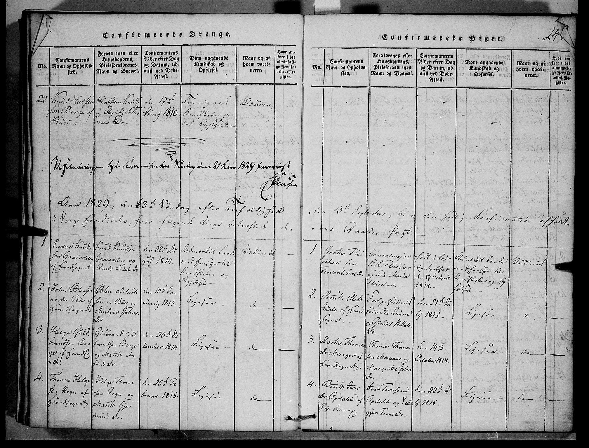 SAH, Vang prestekontor, Valdres, Klokkerbok nr. 1, 1814-1820, s. 248