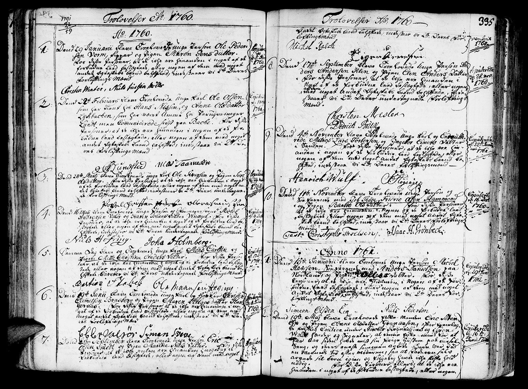 SAT, Ministerialprotokoller, klokkerbøker og fødselsregistre - Sør-Trøndelag, 602/L0103: Ministerialbok nr. 602A01, 1732-1774, s. 335